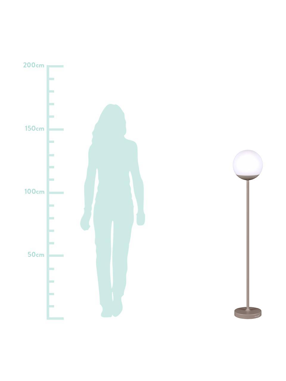 Mobiele outdoor LED lamp Mooon, Lampenkap: kunststof, Nootmuskaatbruin, Ø 25 x H 134 cm