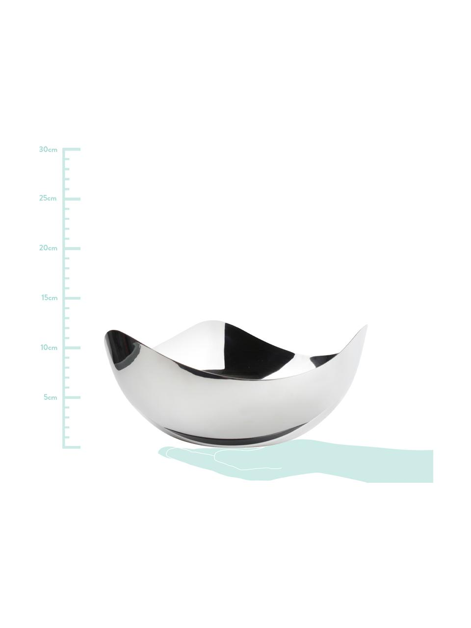 Glänzende Schale Tris aus Edelstahl, Edelstahl, glänzend, Edelstahl, Ø 24 x H 11 cm