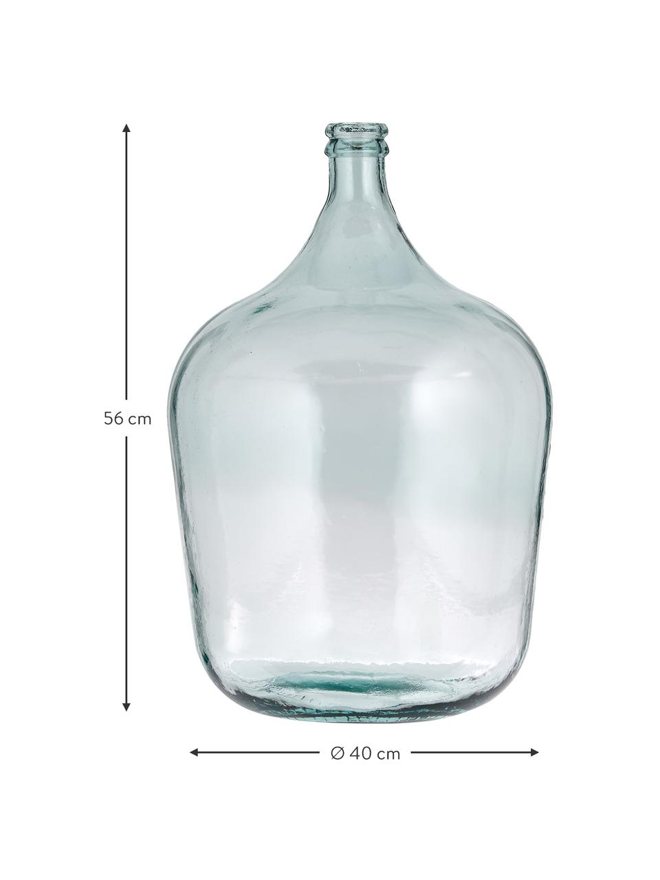Bodenvase Beluga aus recyceltem Glas, Recyceltes Glas, Hellblau, Ø 40 x H 56 cm