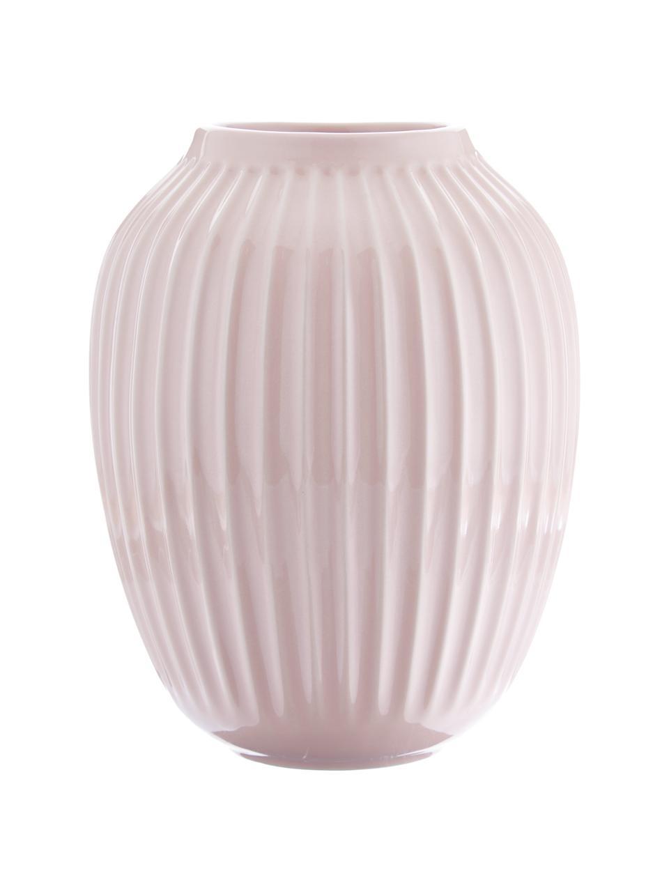Vaso di design fatto a mano Hammershøi, Porcellana, Rosa, Ø 20 x Alt. 25 cm