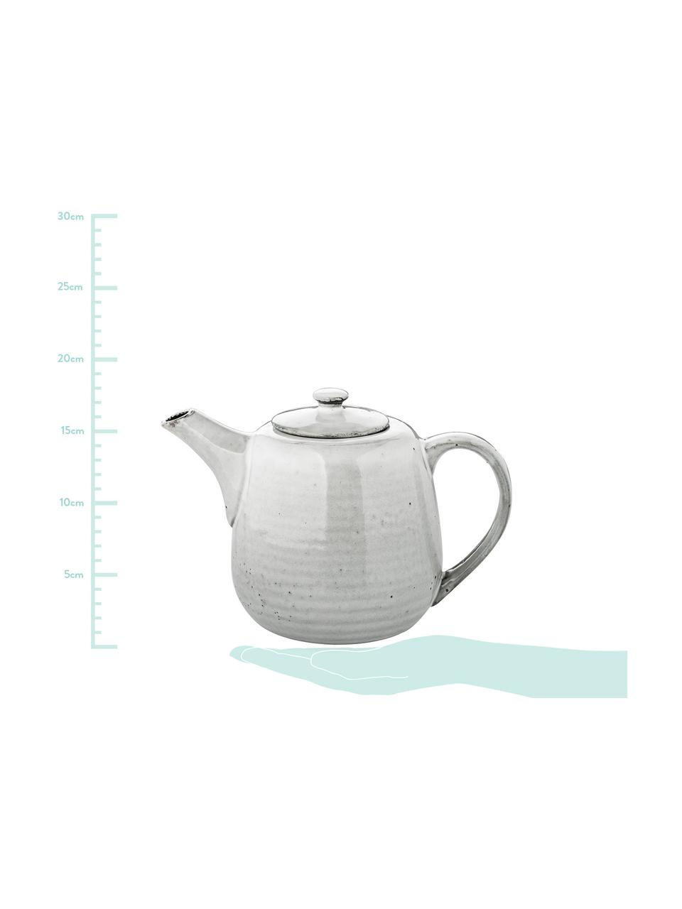 Handgemachte Teekanne Nordic Sand aus Steingut, 1.3 L, Steingut, Sand, 1.3 L