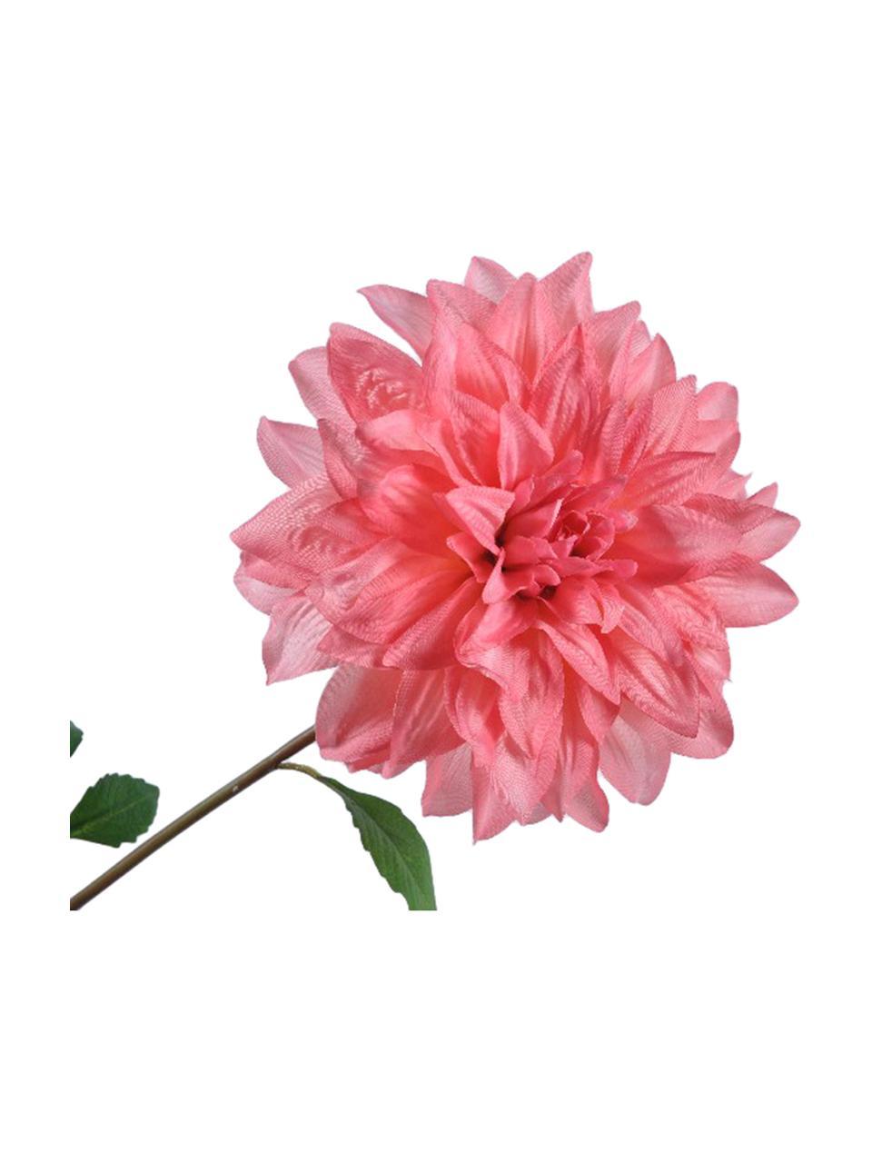 Kunstbloem Dahlia, Kunststof, Roze, groen, L 69 cm