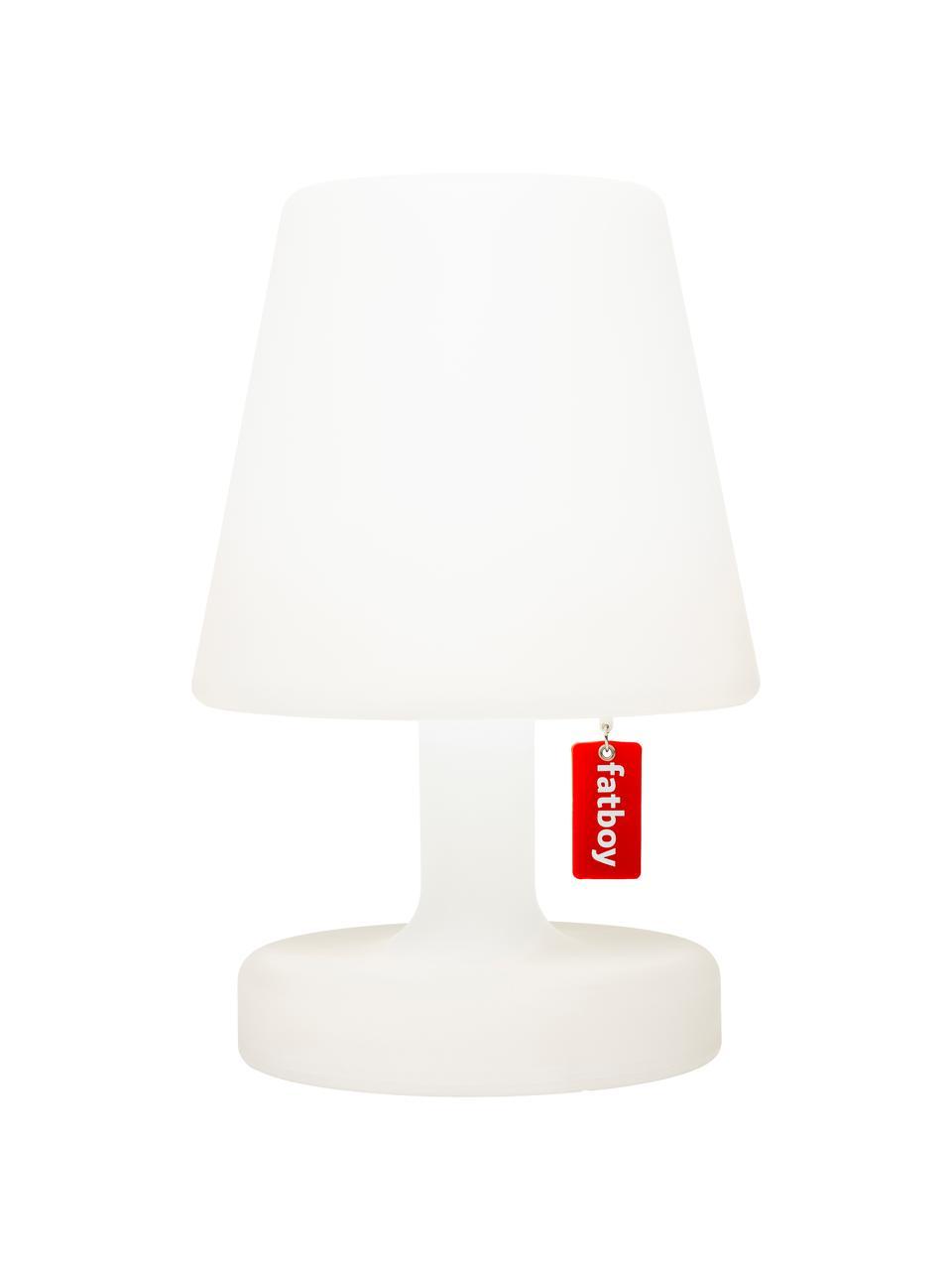 Mobile LED-Außentischleuchte Edison the Petit, Kunststoff, Weiß, Ø 16 x H 25 cm