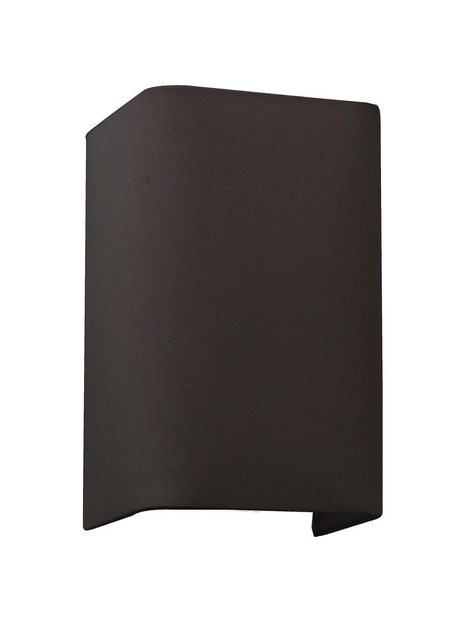 Applique murale noire en tissu Cotto, Noir