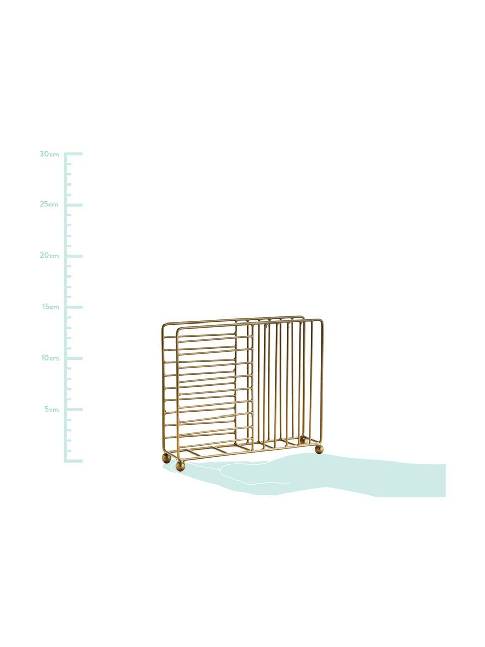 Portatovaglioli Magazin, Metallo rivestito, Ottone, Larg. 16 x Alt. 4 cm