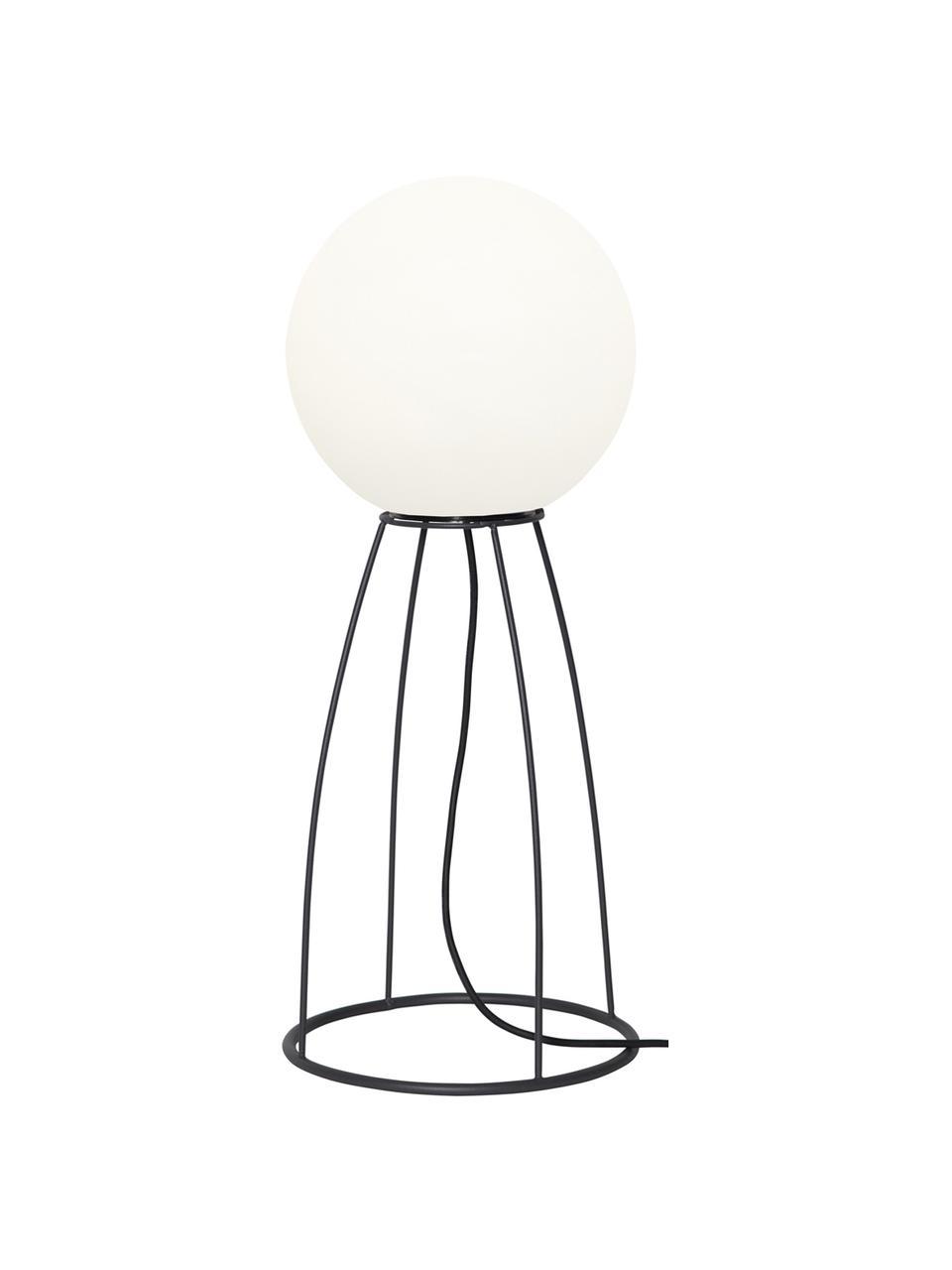 Outdoor LED vloerlamp Gardenlight, Kunststof, metaal, Wit, zwart, Ø 29 x H 70 cm