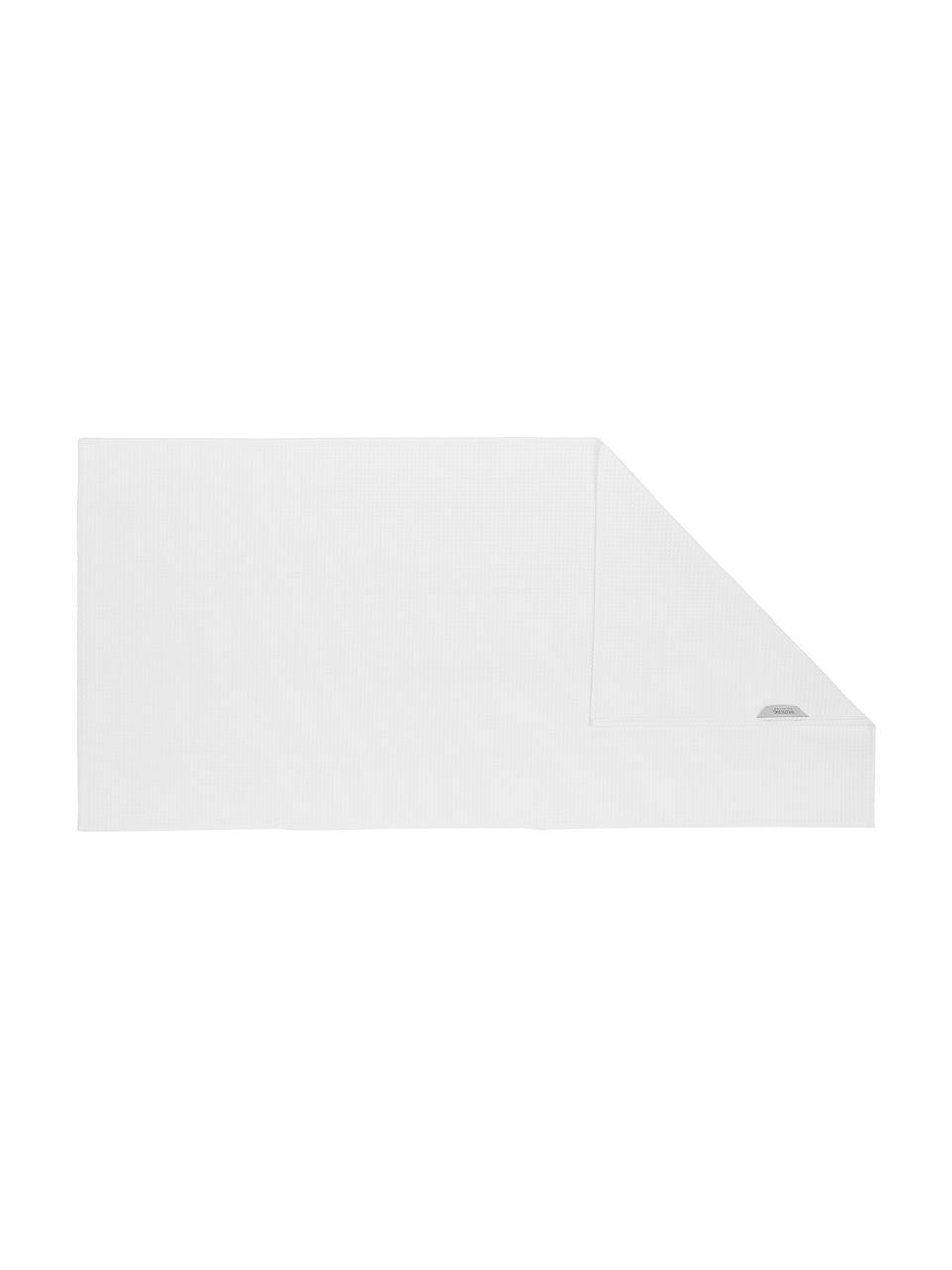 Leichtes Waffelpiqué Handtuch-Set Karima, 3-tlg., Weiß, Sondergrößen