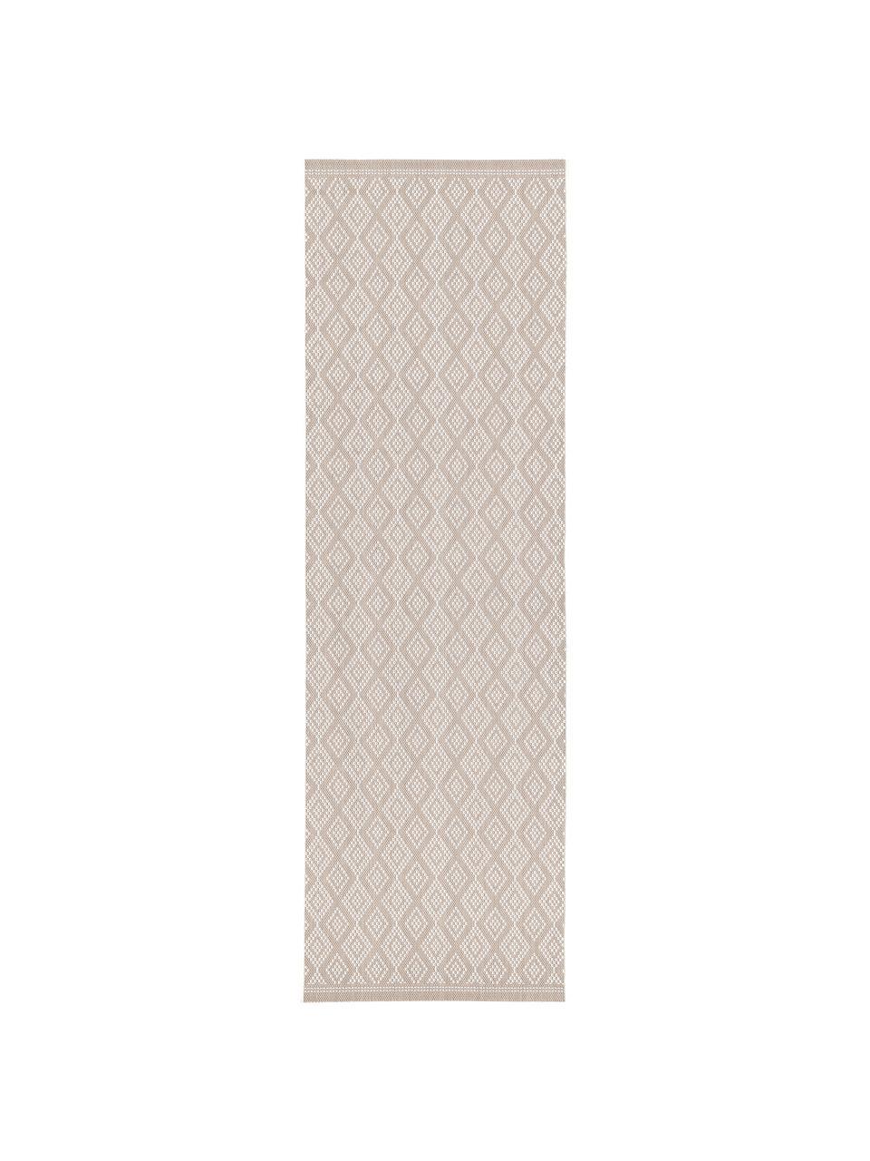 In- & Outdoor-Läufer Capri in Beige/Creme, Flor: 100% Polypropylen, Cremeweiß, Beige, 80 x 250 cm