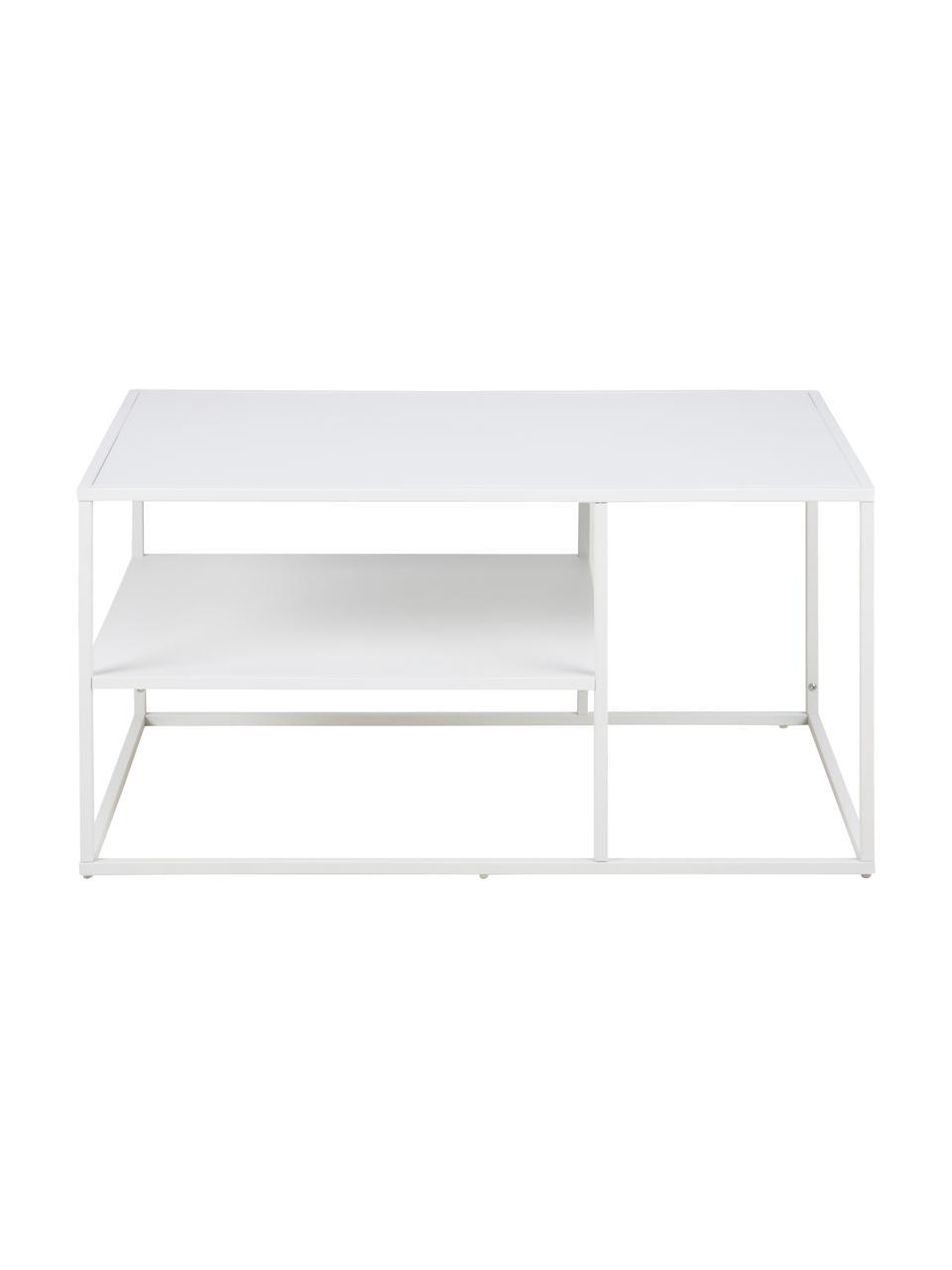 Table basse métal blanc Newton, Blanc
