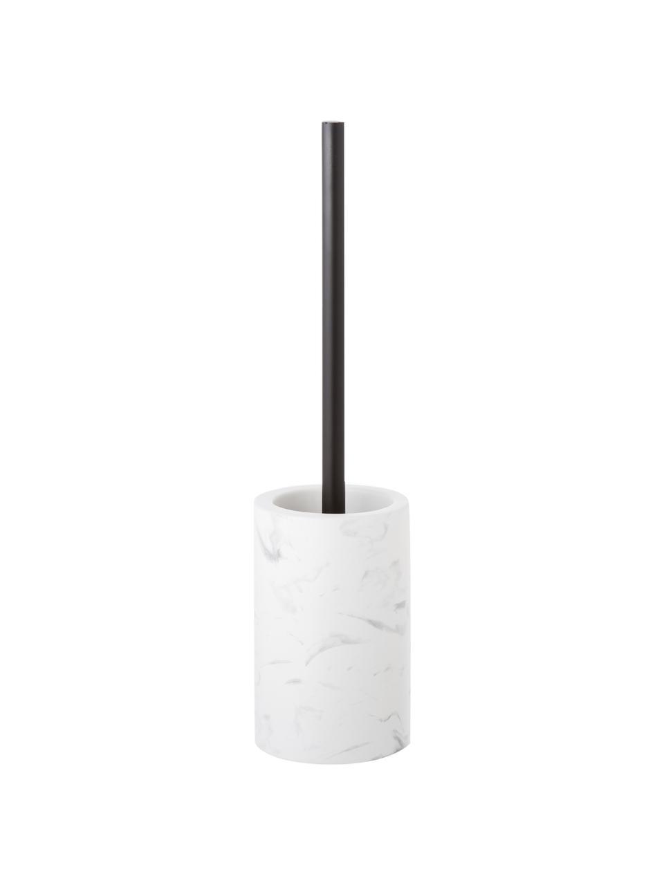 Toiletborstel Daro met keramieken houder, Houder: keramiek, Wit, zwart, Ø 10 x H 43 cm