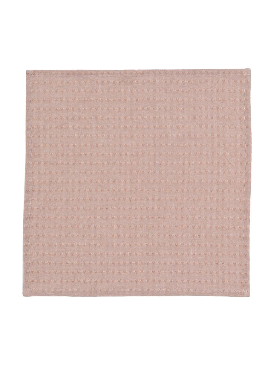 Serwetka z tkaniny Napel, 4 szt., Bawełna, Brązowy, S 40 x D 40 cm