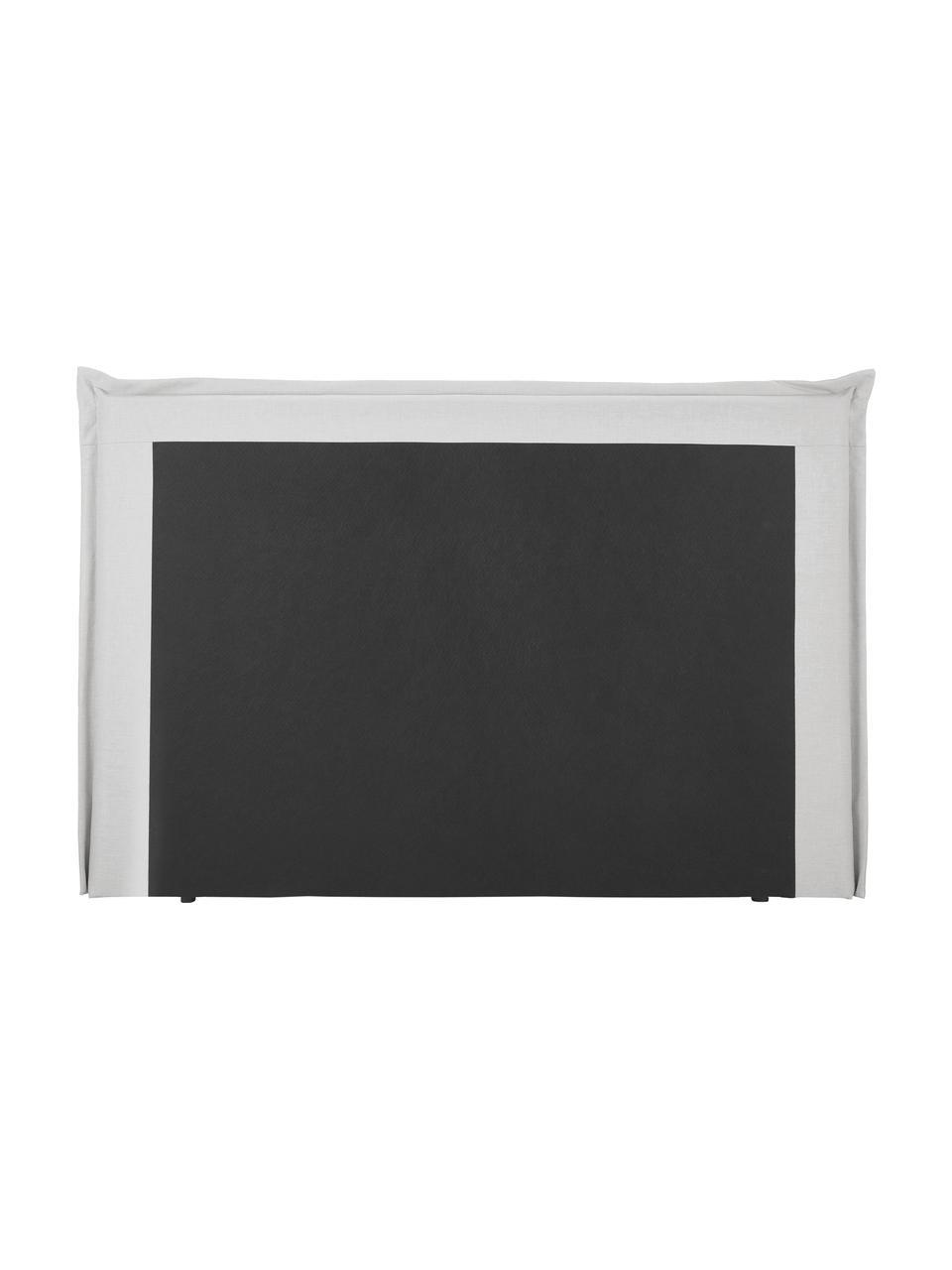 Premium Boxspringbett Violet in Hellgrau, Matratze: 5-Zonen-Taschenfederkern, Füße: Massives Birkenholz, lack, Helles Weiß-Grau, 160 x 200 cm