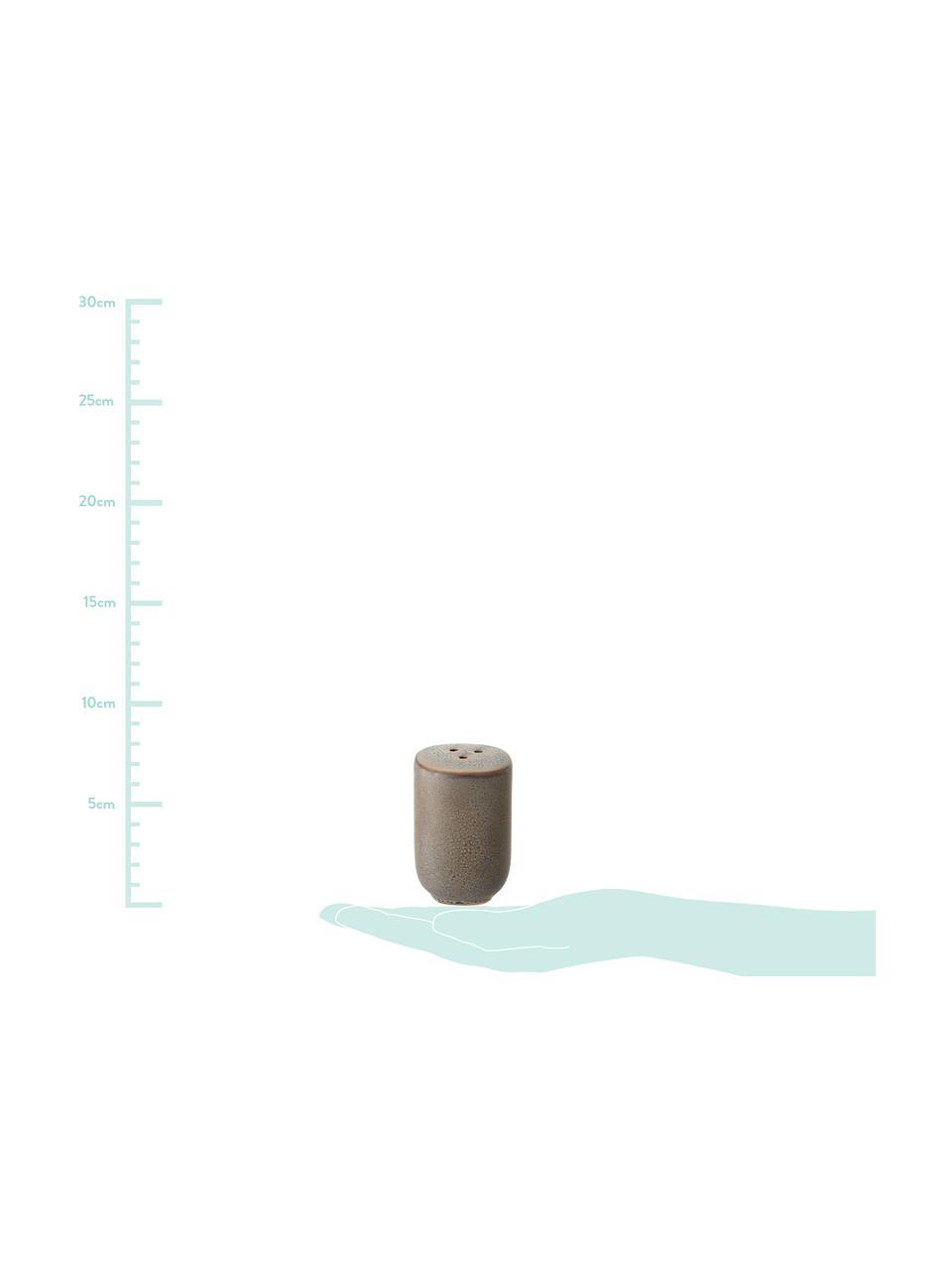 Handgemachte Salz- und Pfefferstreuer Kendra, Steingut, Greige, Ø 5 x H 7 cm