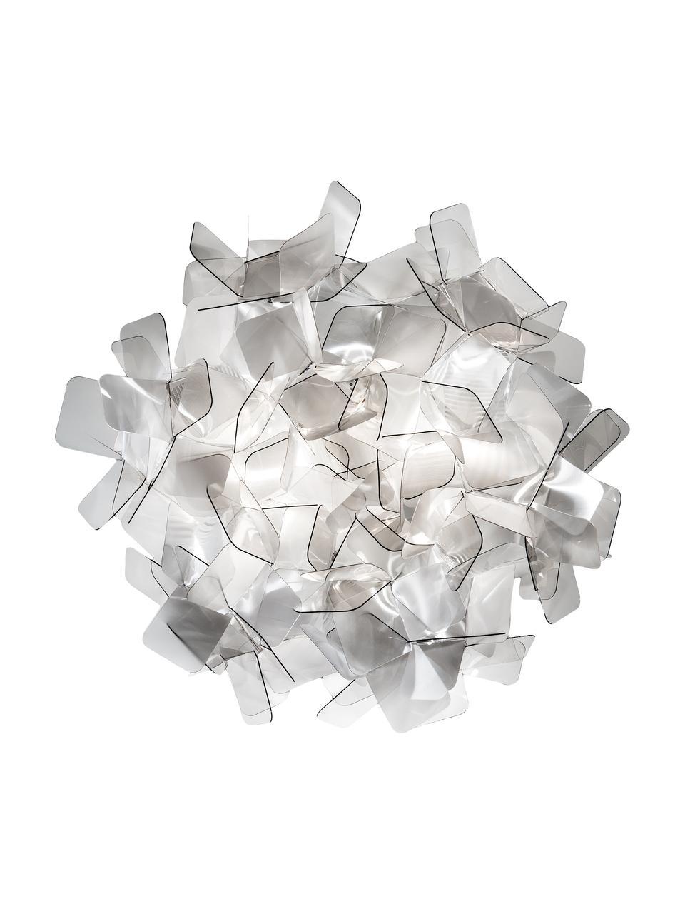 Design plafondlamp Clizia van kunststof, Lampenkap: Technopolymer Lentiflex®,, Lichtgrijs, transparant, Ø 53 x H 20 cm