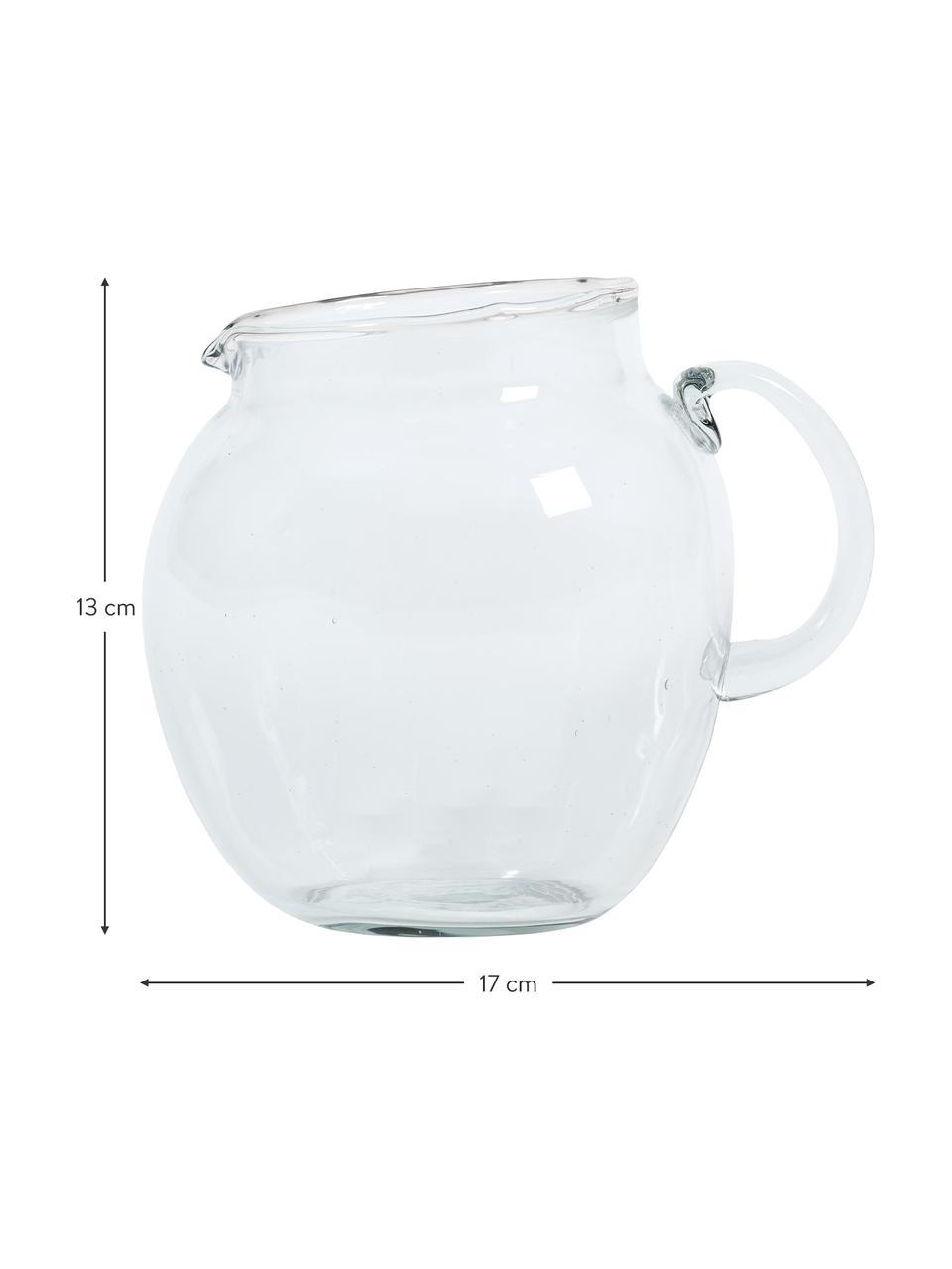 Jarra de vidrio reciclado Unexpected, 3 L, Vidrio reciclado, Transparente, An 17 x Al 13 cm
