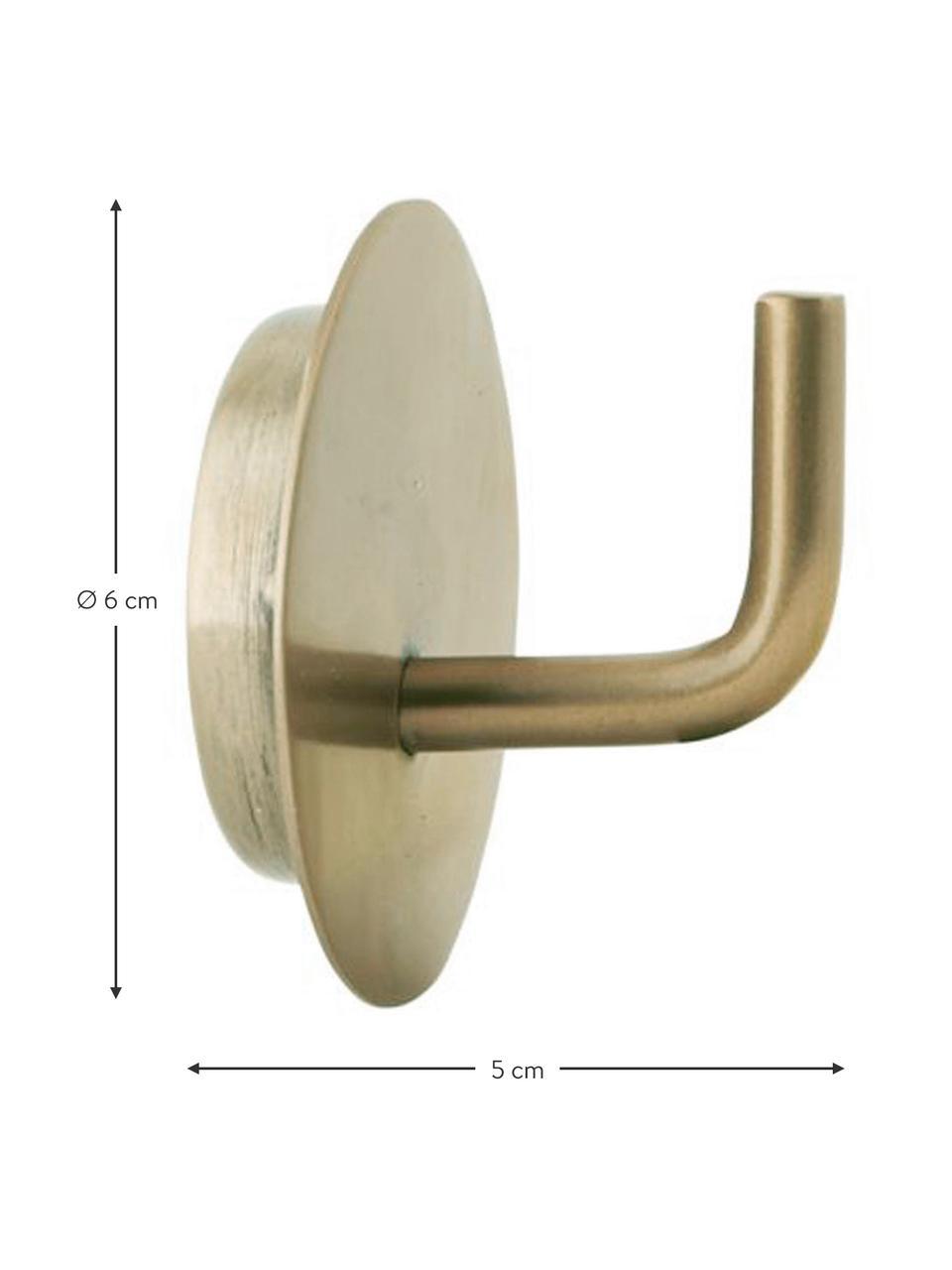 Metall-Kleiderhaken Lema, 2 Stück, Aluminium, beschichtet, Messingfarben, Ø 6 x T 5 cm