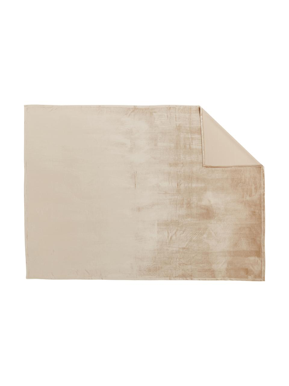 Tovaglia in velluto Simone, Velluto di poliestere, Beige, Per 4 - 6 persone (Larg. 140 x Lung. 200 cm)