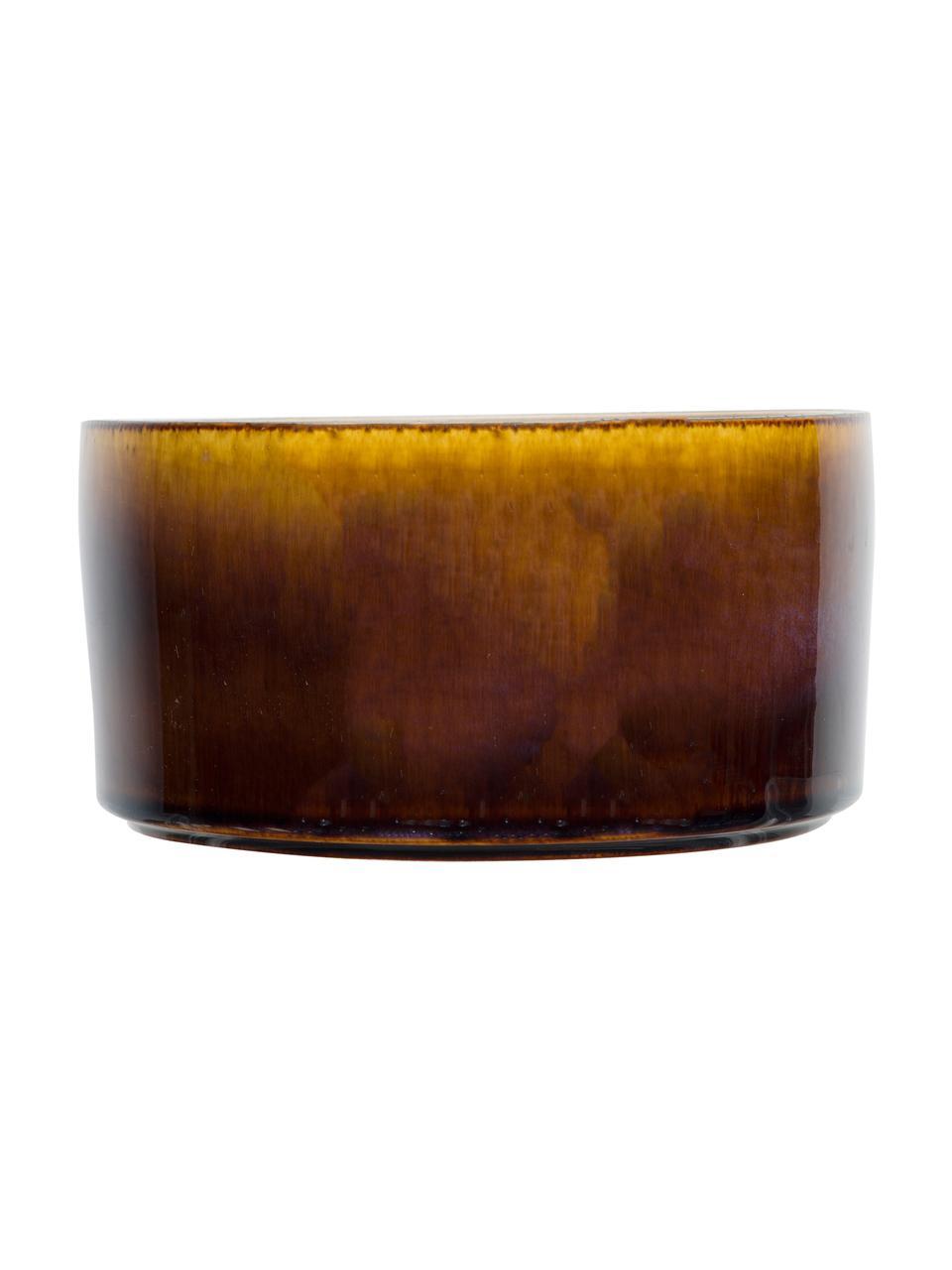 Cuencos artesanales Quintana, 2uds., Porcelana, Ámbar, marrón, Ø 14 cm