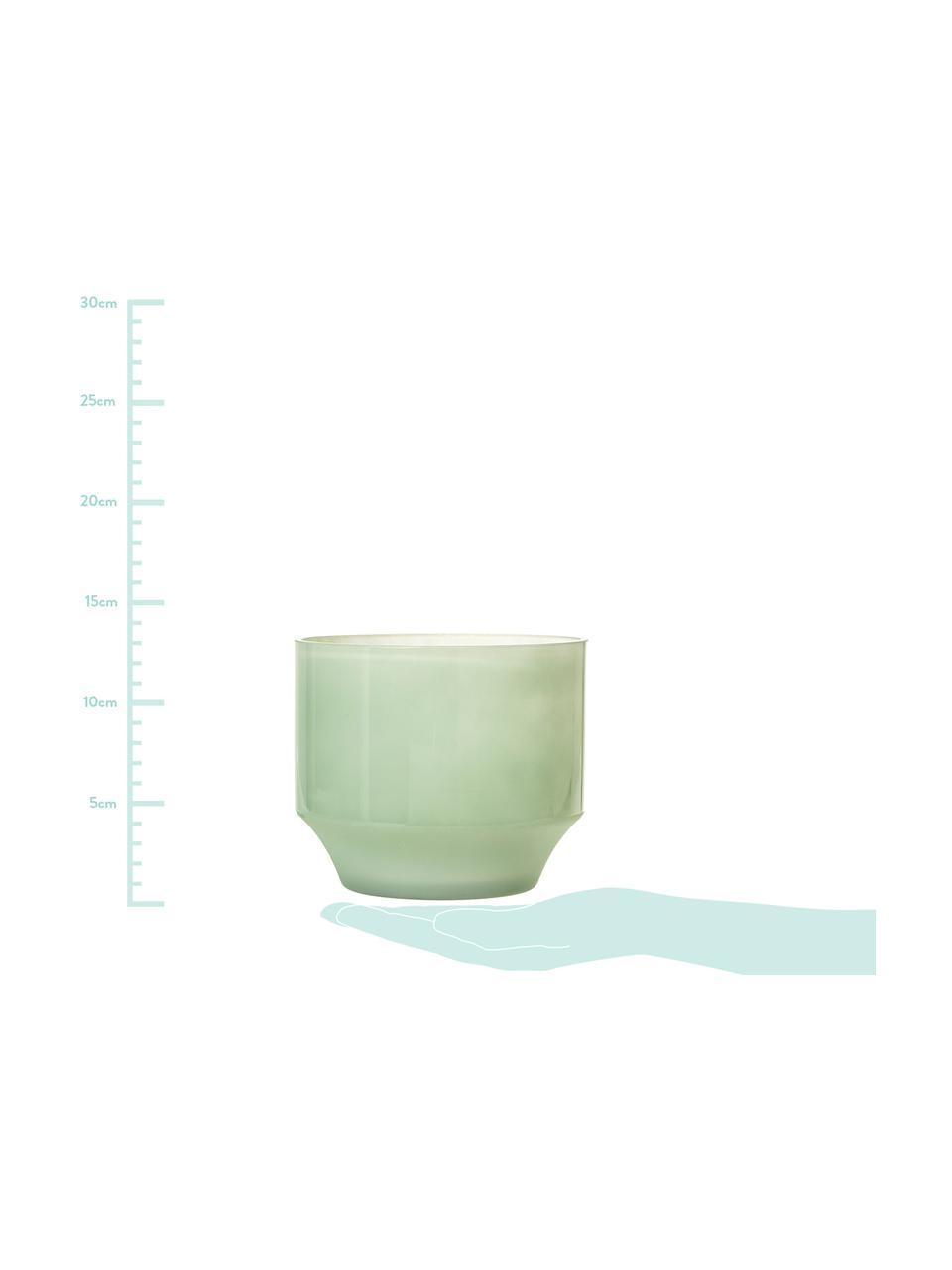 Portavaso Emilia, Vetro, Verde chiaro, Ø 15 x Alt. 13 cm