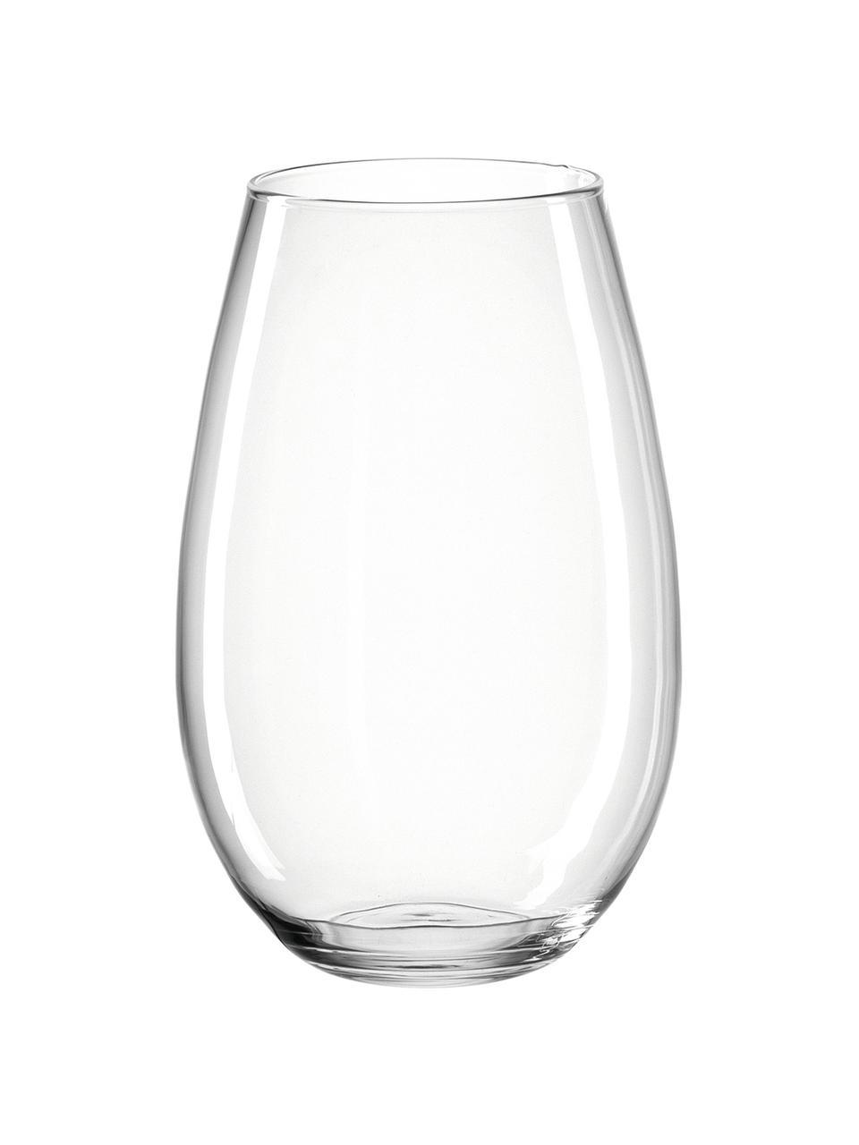 Handgefertigte Glasvase Casolare, Glas, Transparent, Ø 22 x H 35 cm