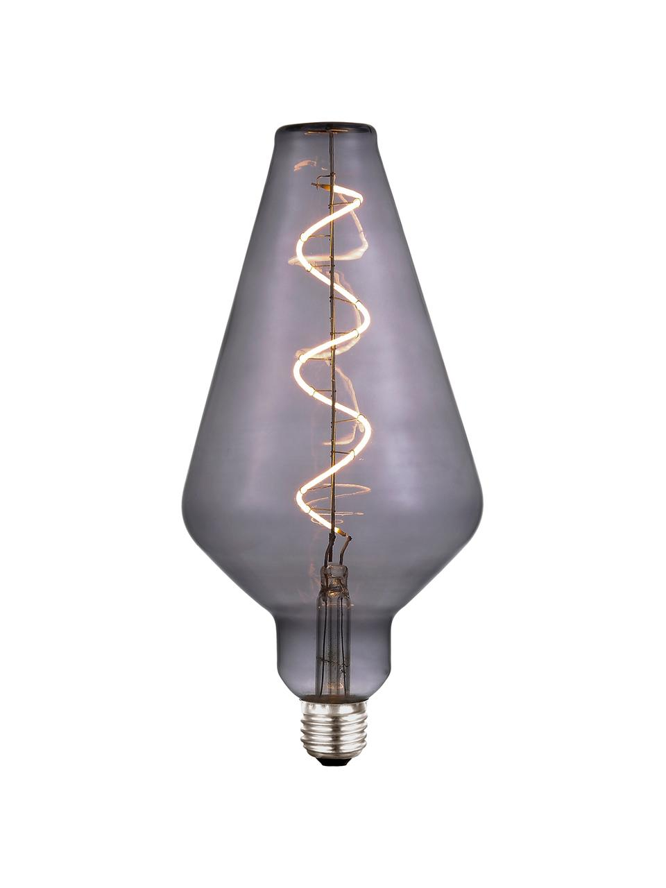 Grande ampoule (E27/4W) blanc chaud à intensité variable, 1 pièce, Gris, transparent
