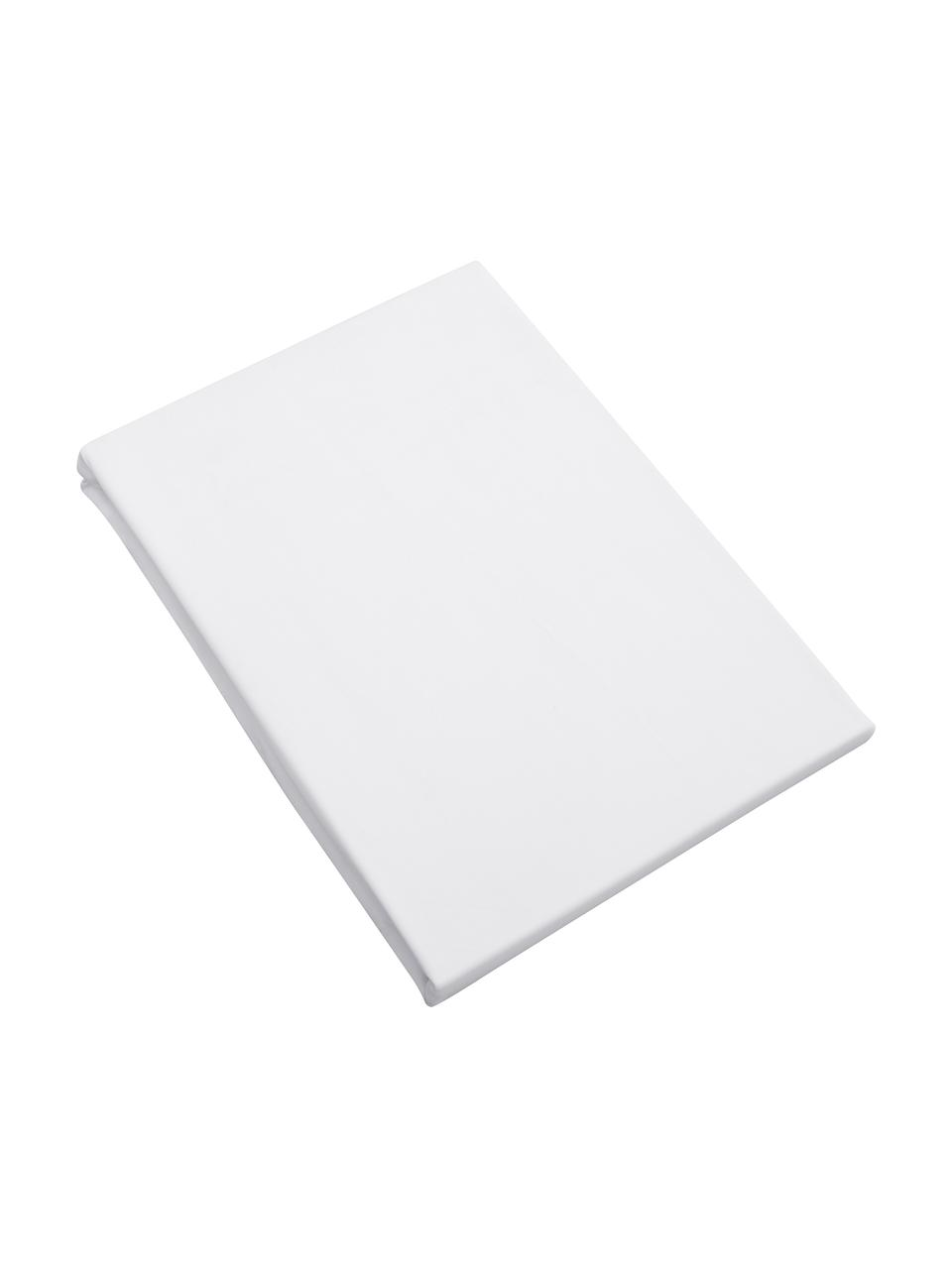 Spannbettlaken Premium in Weiß, Baumwollsatin, Webart: Satin, leicht glänzend, Weiß, 180 x 200 cm