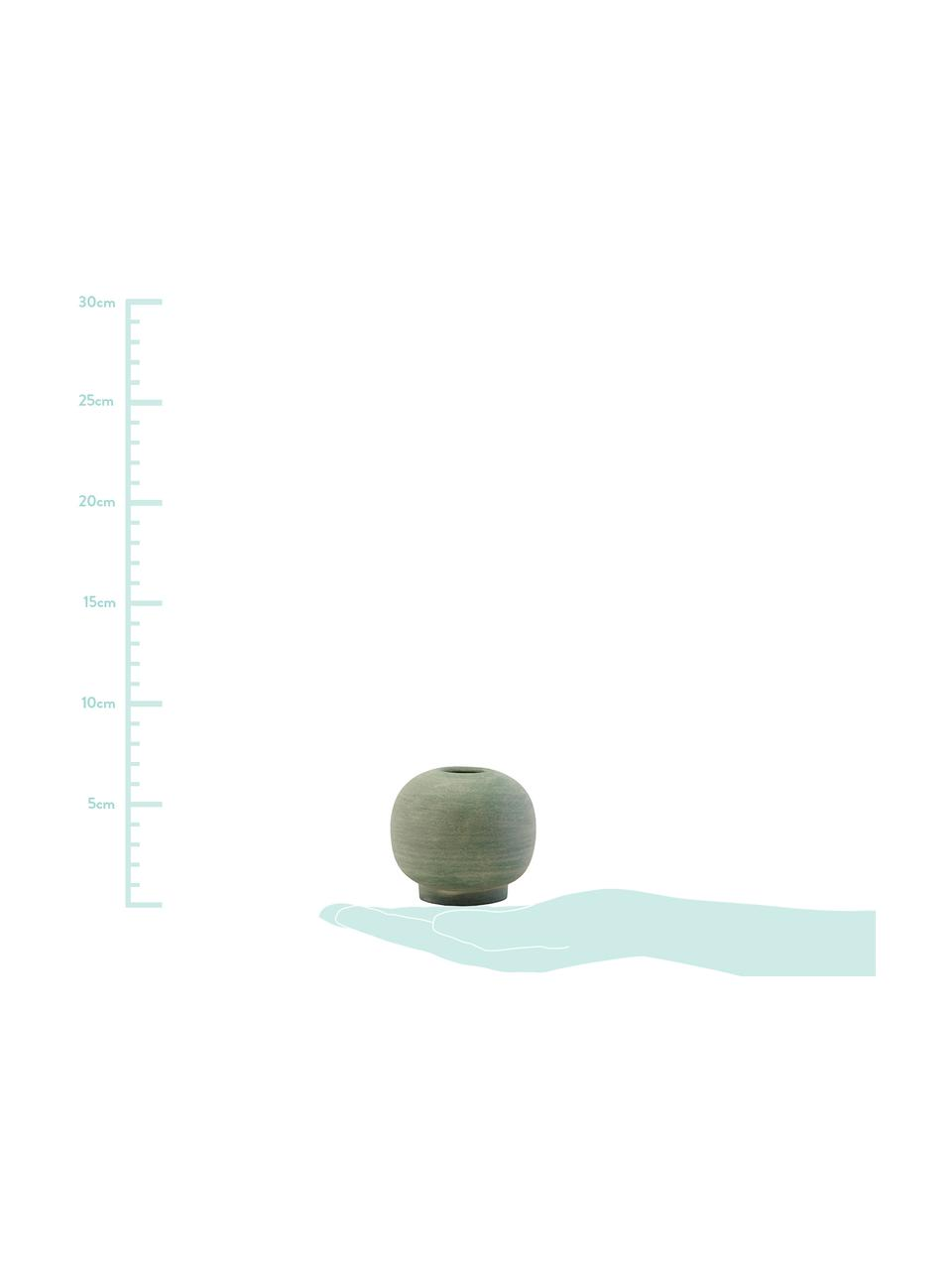 Vaso fatto a mano in terracotta Bobbles, Terracotta, Verde, Ø 7 x Alt. 7 cm