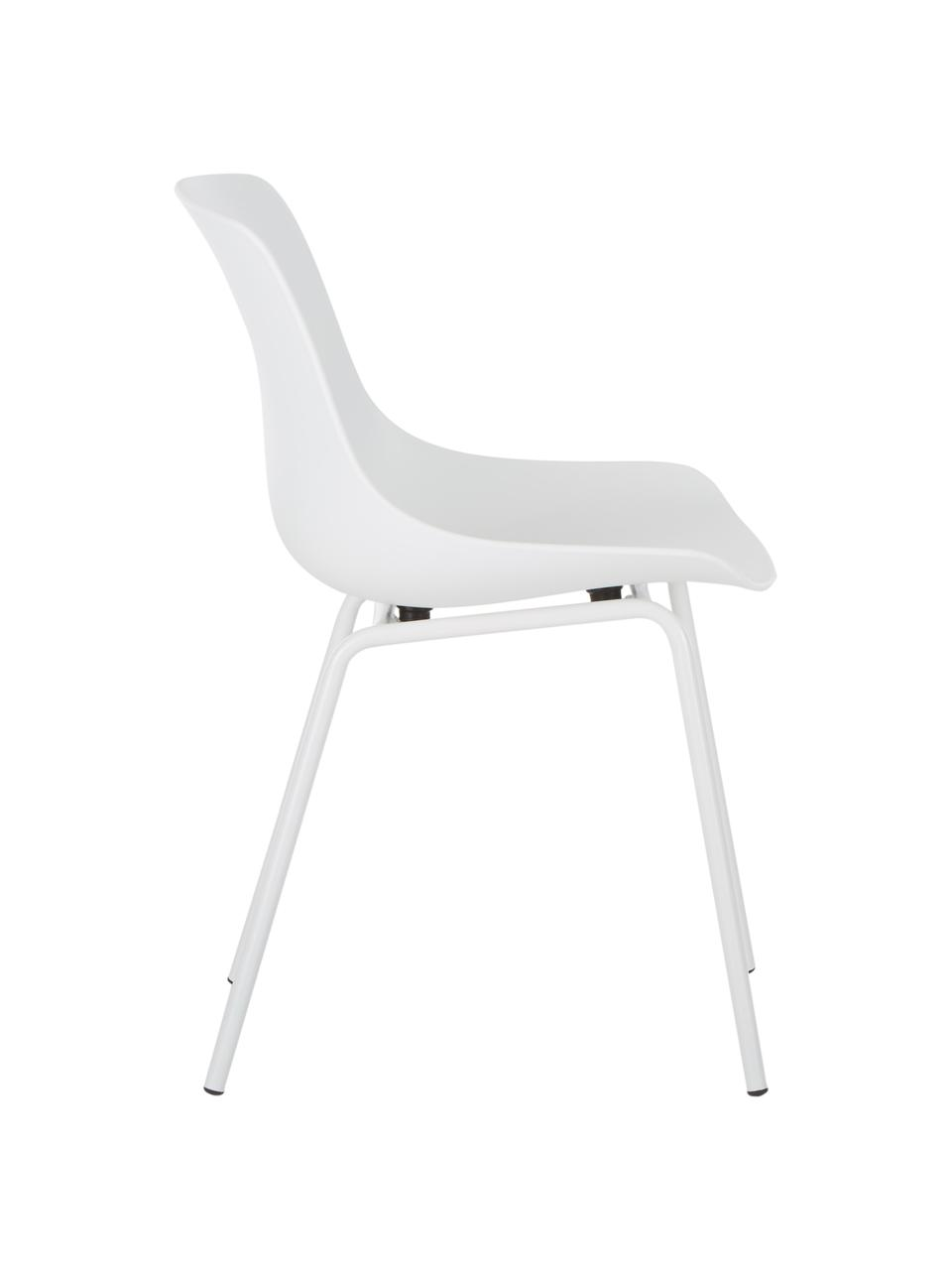 Chaise moderne Joe, 2pièces, Blanc