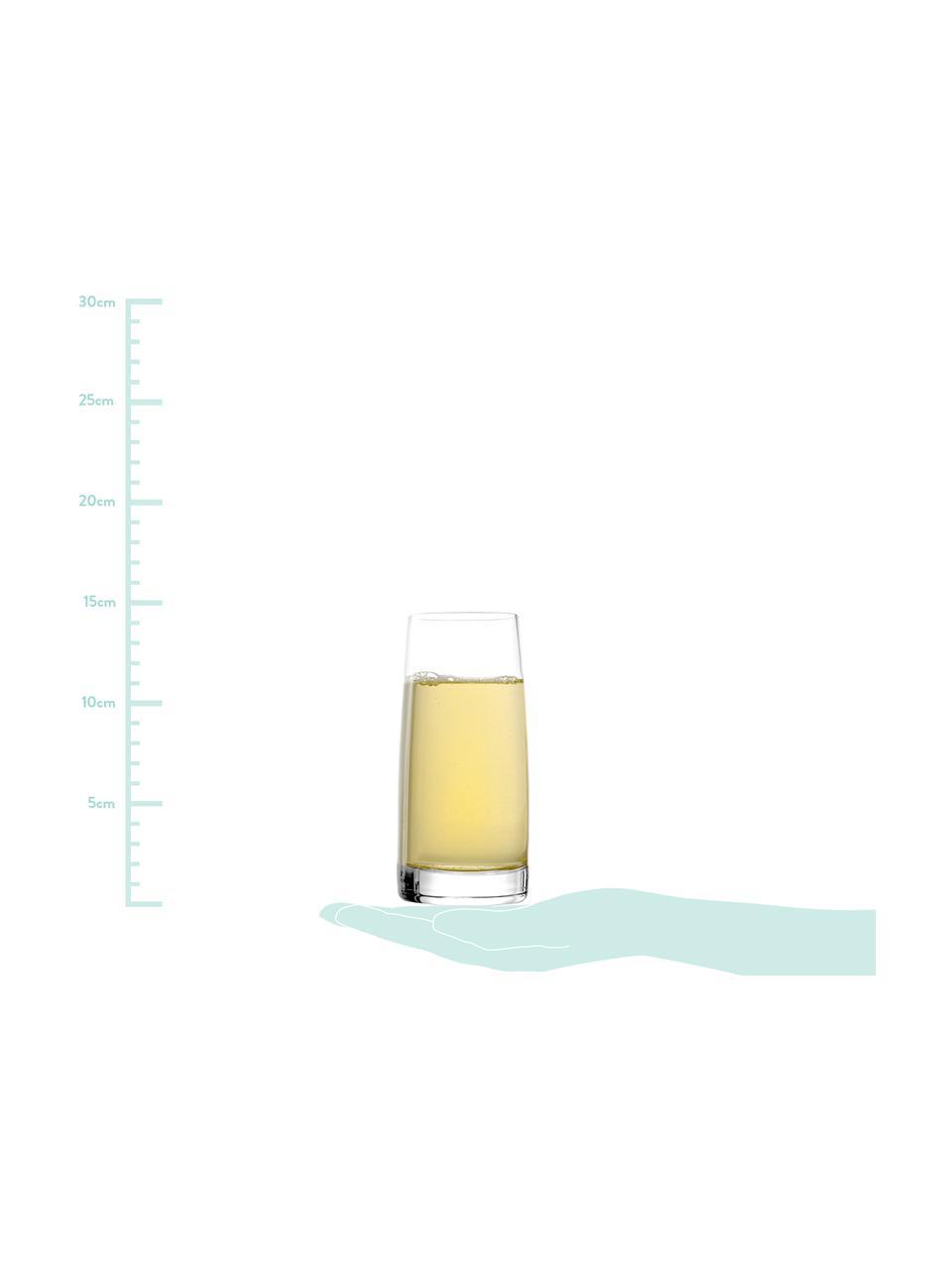 Kryształowa szklanka do wody Experience, 6 szt., Szkło kryształowe, Transparentny, Ø 7 x W 14 cm