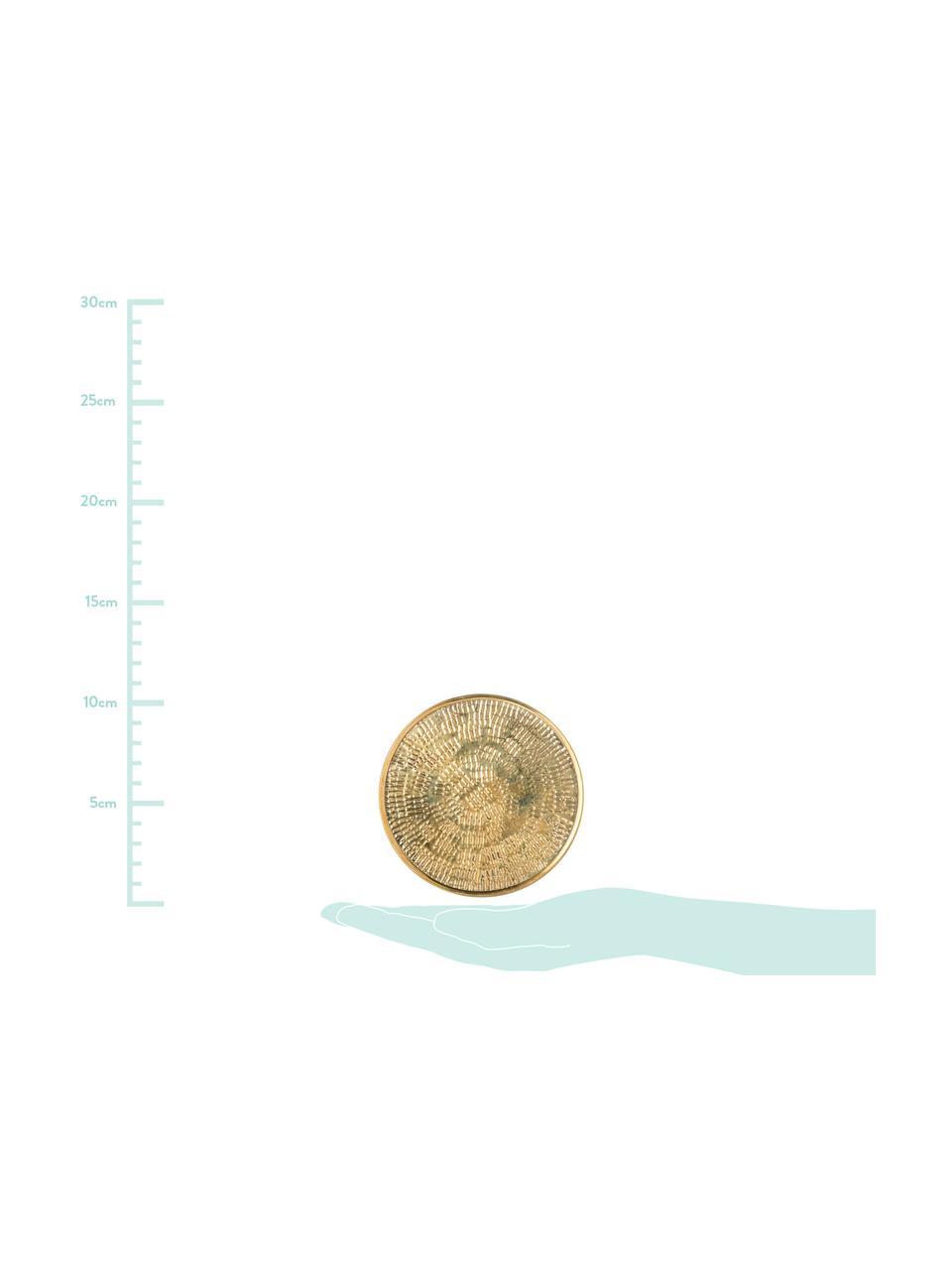 Onderzetter set Graphic, 4-delig., Gehamerd messing, Messingkleurig, Ø 10 cm