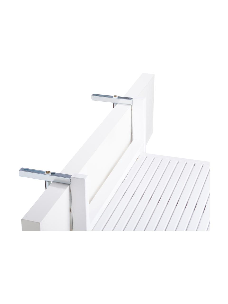 Table de balcon rabattable en bois Lodge, Blanc