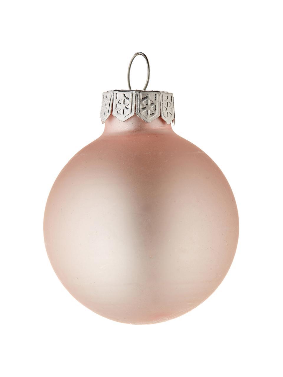 Set 16 mini palline di Natale Evergreen Ø 4 cm, Rosa, Ø 4 cm