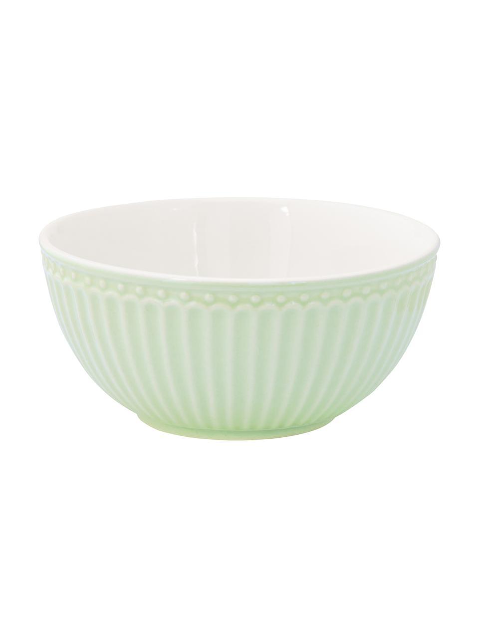 Bols en porcelaine Alice, 2pièces, Vert menthe