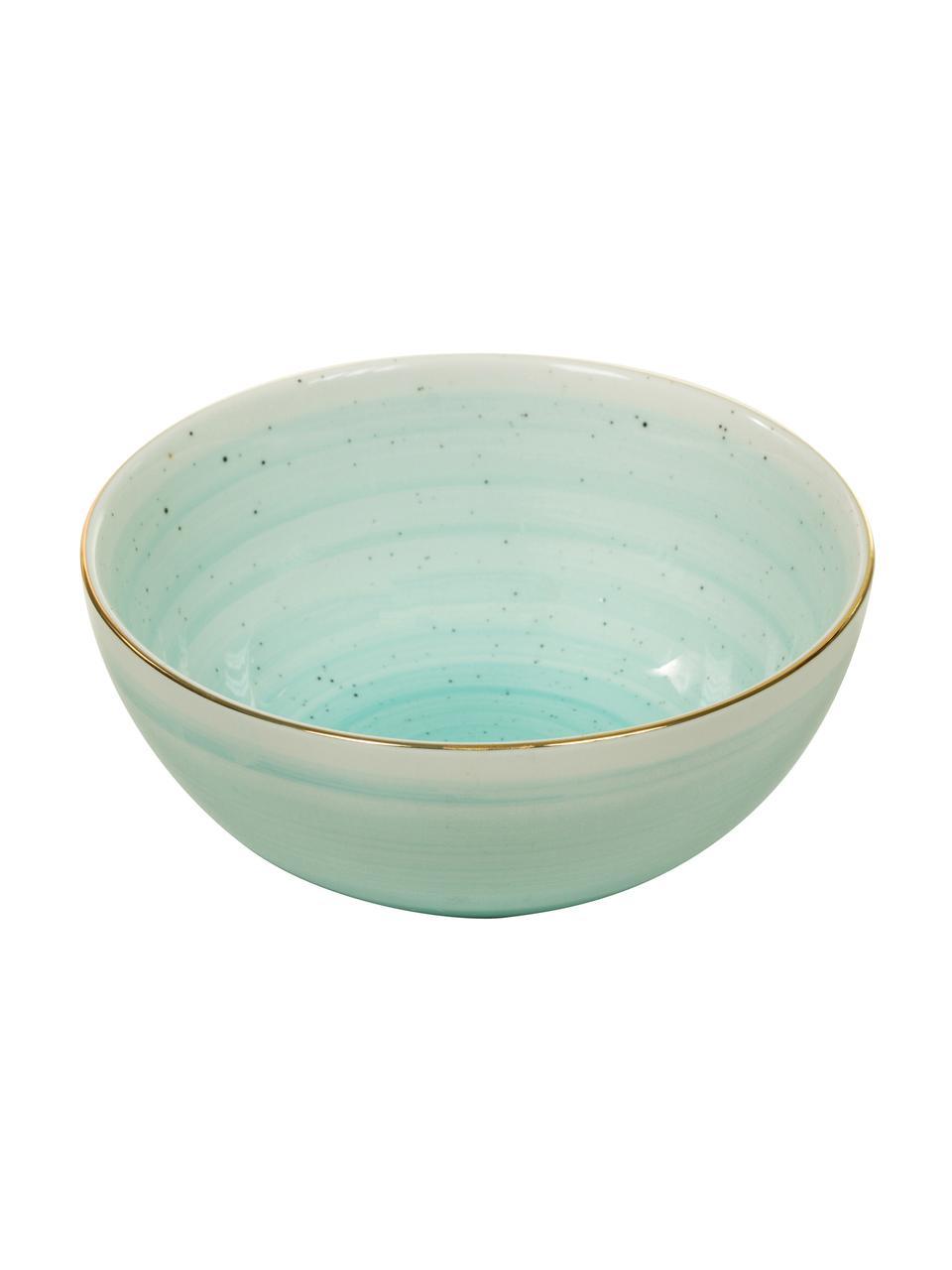 Ręcznie wykonana miska Bella, 2 szt., Porcelana, Turkusowoniebieski, Ø 10 x W 6 cm