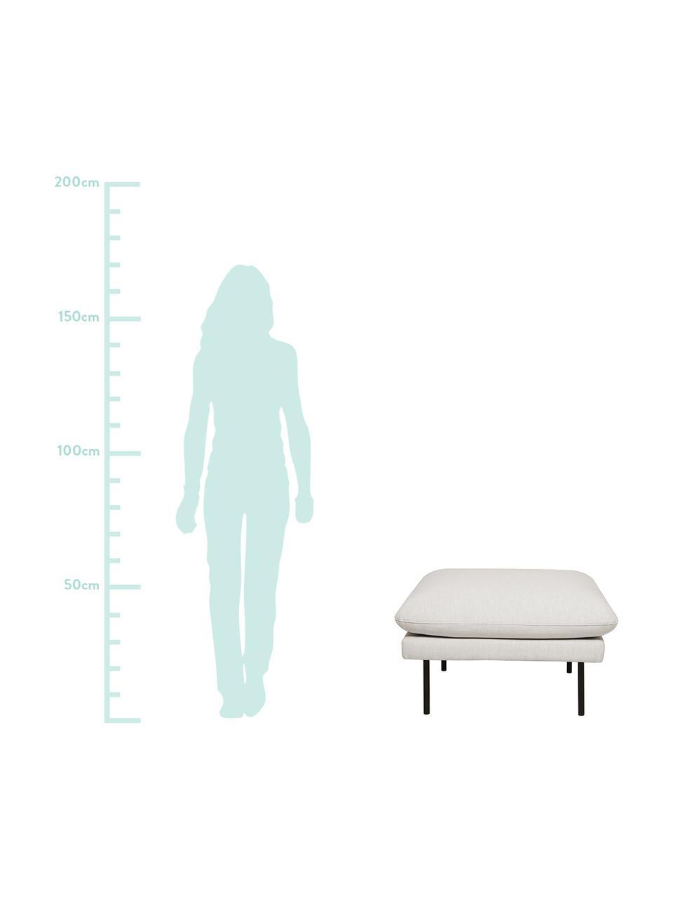 Sofa-Hocker Moby in Beige mit Metall-Füßen, Bezug: Polyester Der hochwertige, Gestell: Massives Kiefernholz, Füße: Metall, pulverbeschichtet, Webstoff Beige, 78 x 48 cm