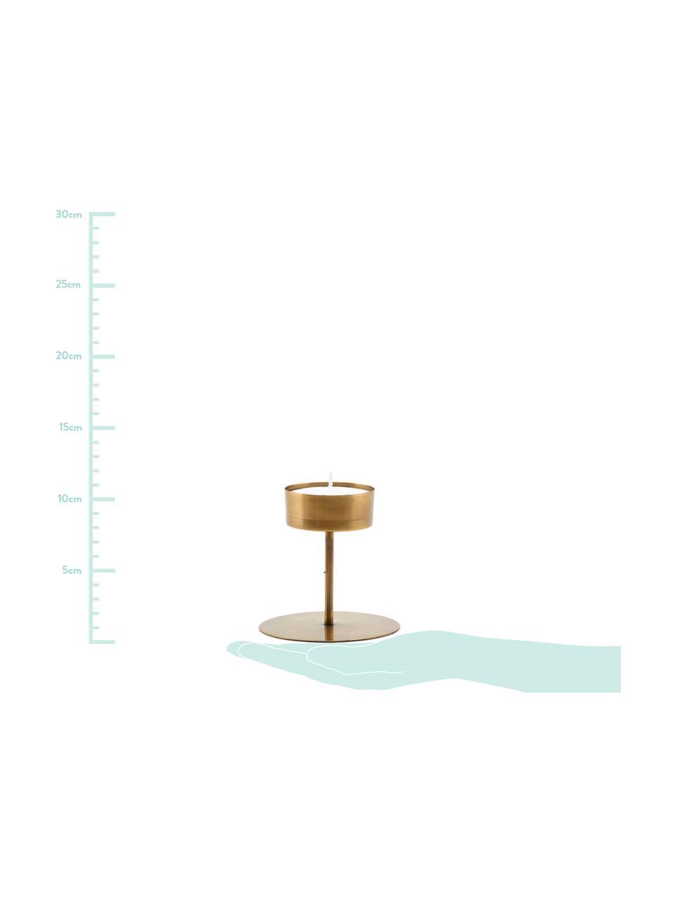 Kandelaar Anit, Gecoat metaal, Messingkleurig, Ø 11 x H 10 cm