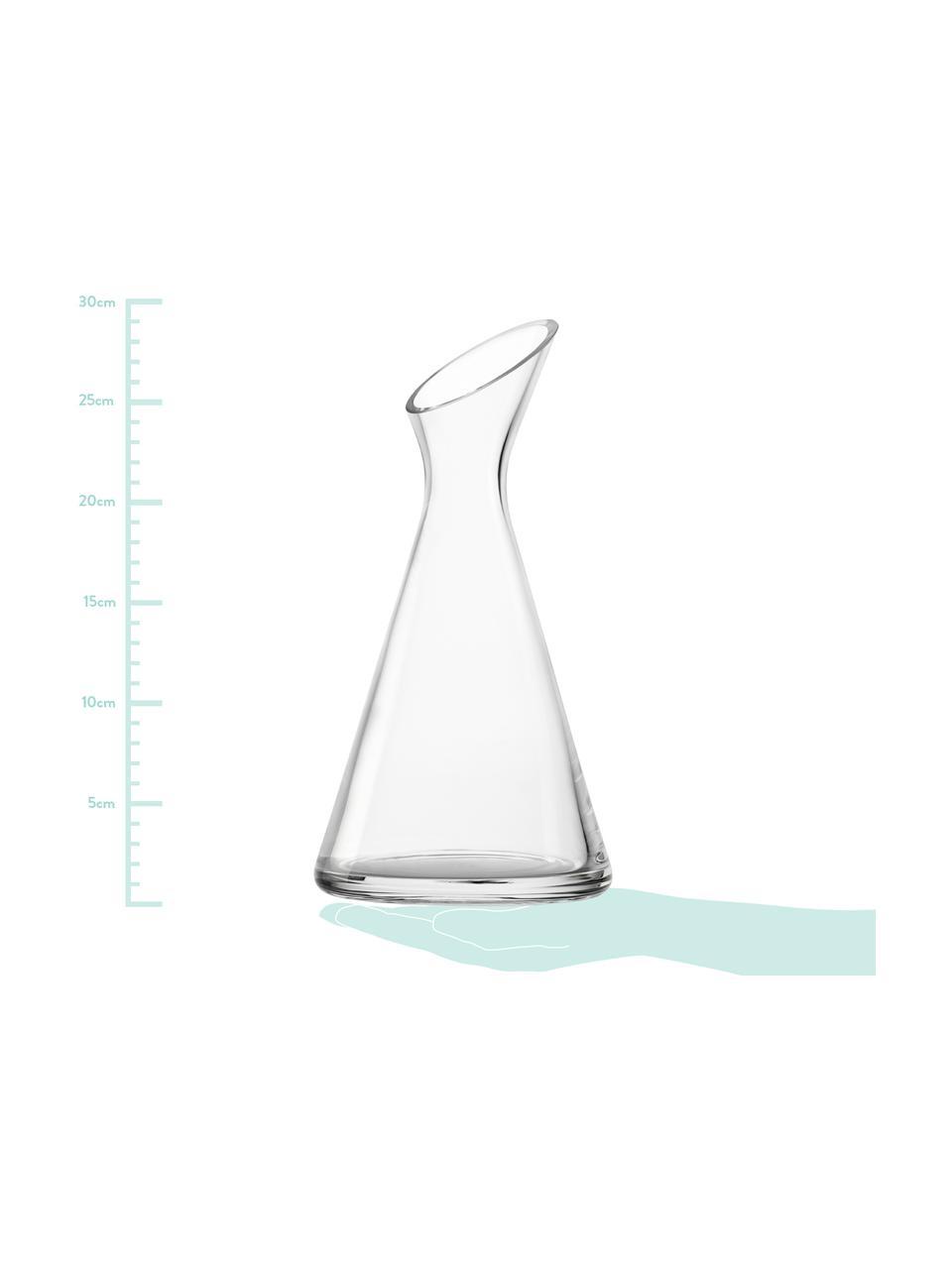 Kryształowa karafka z dmuchanego szkła One, 1 l, Szkło kryształowe, Transparentny, W 29 cm