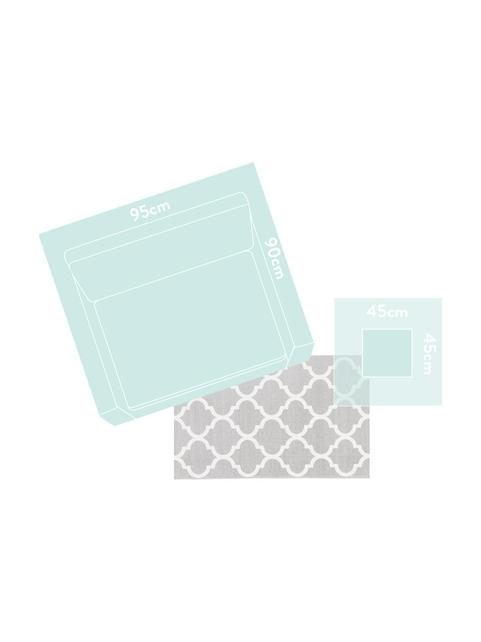 Tappeto in cotone tessuto a mano Amira, 100% cotone, Grigio chiaro, bianco crema, Larg. 160 x Lung. 230 cm (taglia M)