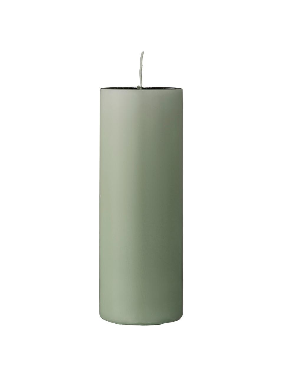 Stumpenkerze Lulu, Wachs, Hellgrün, Ø 7 x H 20 cm