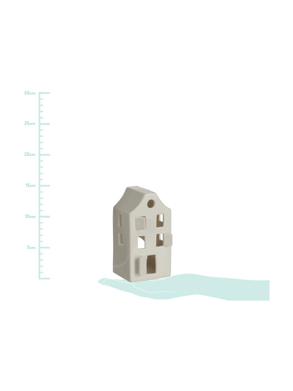 Teelichthalter House, Porzellan, Weiß, 8 x 14 cm