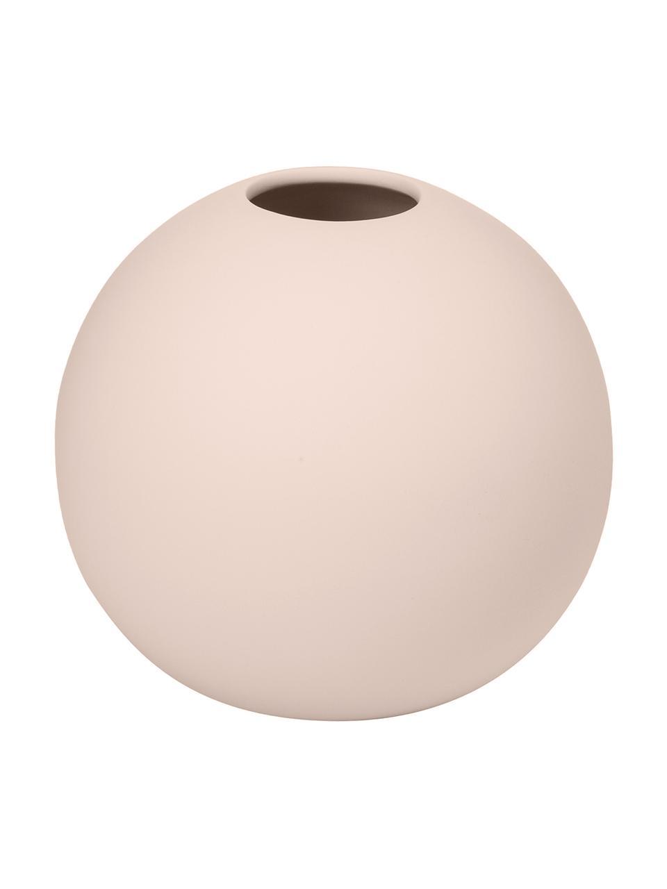 Handgefertigte Kugel-Vase Ball, Keramik, Rosa, Ø 10 x H 10 cm