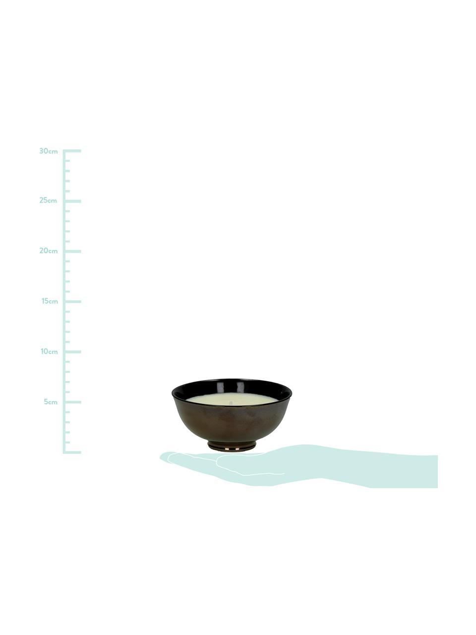 Świeca zapachowa Black Yasmin (jaśmin), Pojemnik: brązowy Świeca: biały, Ø 12 x W 6 cm