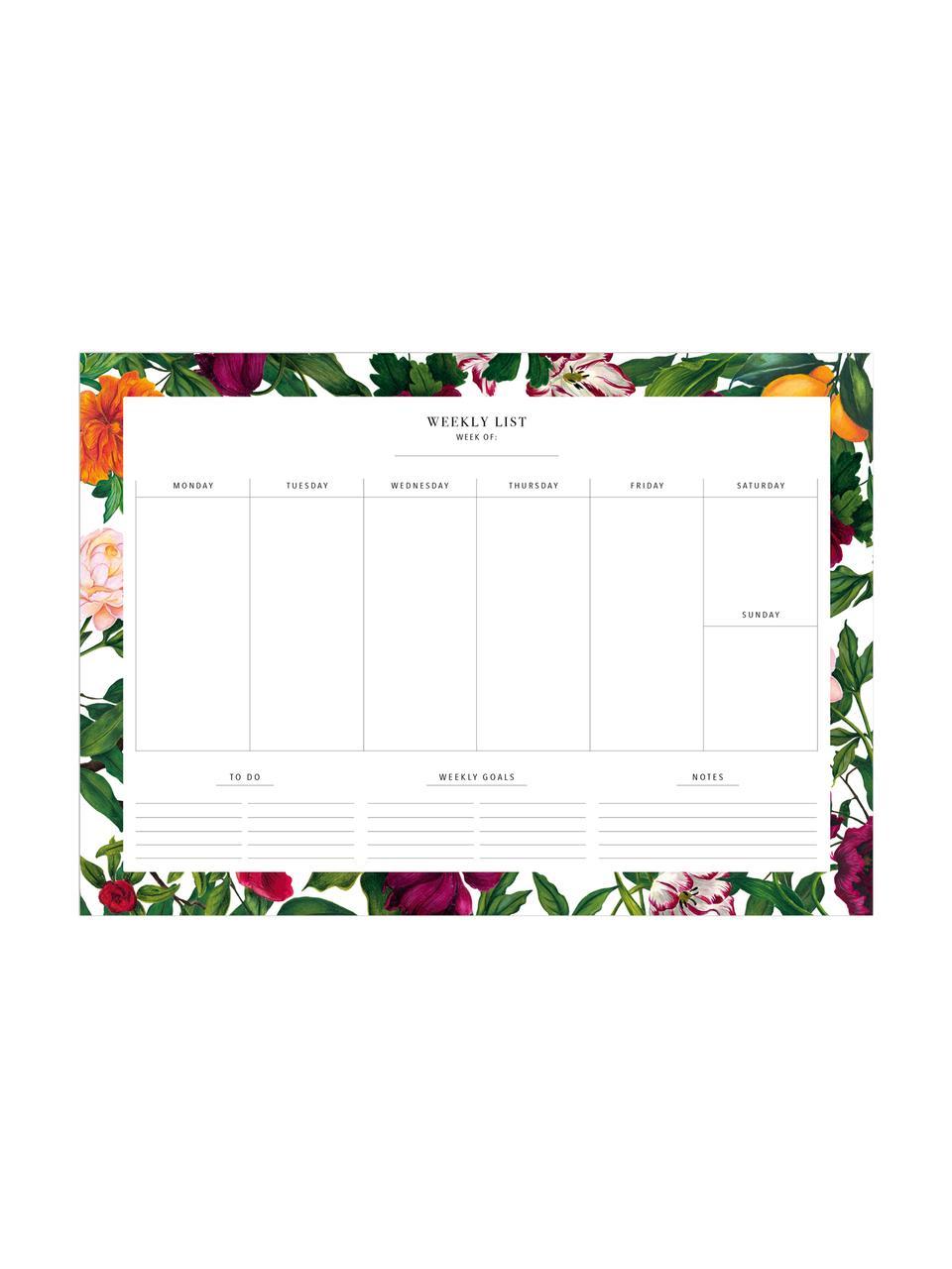 Wochenplaner The English Garden, Papier, Mehrfarbig, 30 x 21 cm