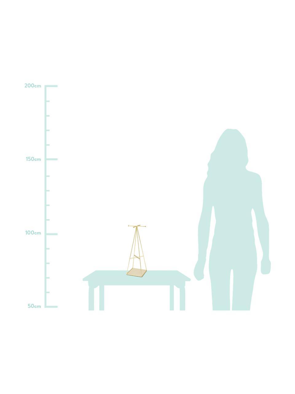 Schmuckständer Prisma, Unterseite: Leinen, Messing, matt, Beige, 14 x 36 cm