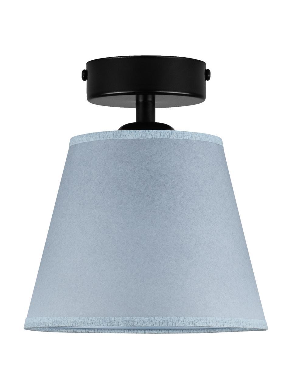 Kleine Deckenleuchte Iro aus Papier, Lampenschirm: Papier, Baldachin: Metall, pulverbeschichtet, Blau, Schwarz, Ø 16 x H 18 cm