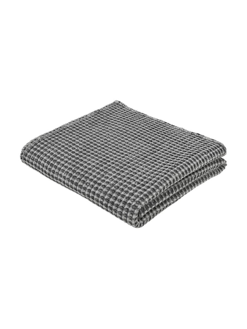 Narzuta z piki Kikai, 100% bawełna, Szary, S 180 x D 260 cm (na łóżka do 160 x 200)