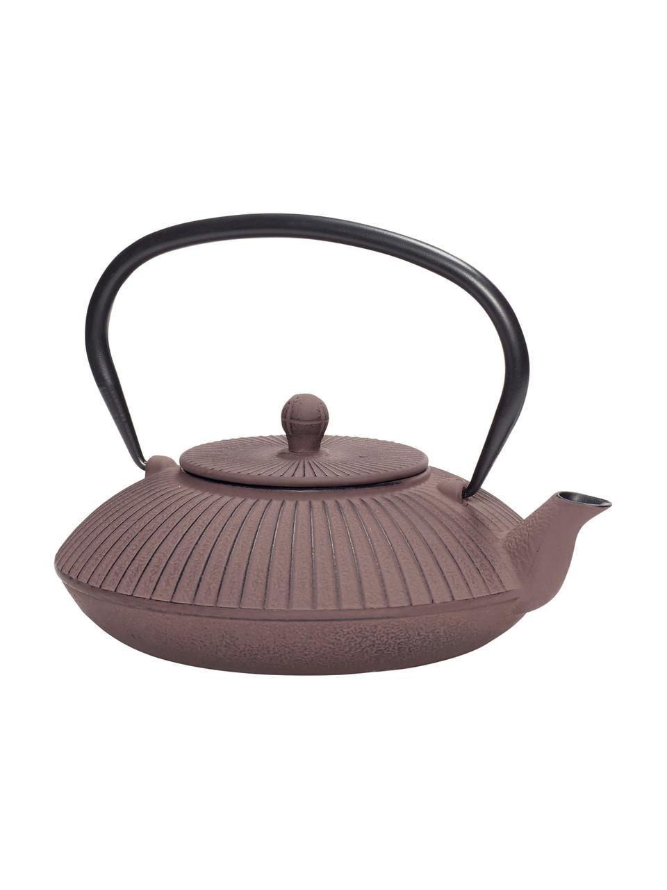 Teekanne Ala, Metall, beschichtet, Teekanne: PflaumenfarbenGriff: Schwarz, 1.1 L