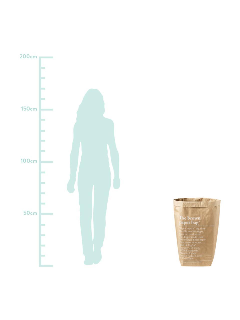 Opbergzak Le sac en kraft brun, Gerecycled papier, Bruin, 50 x 69 cm