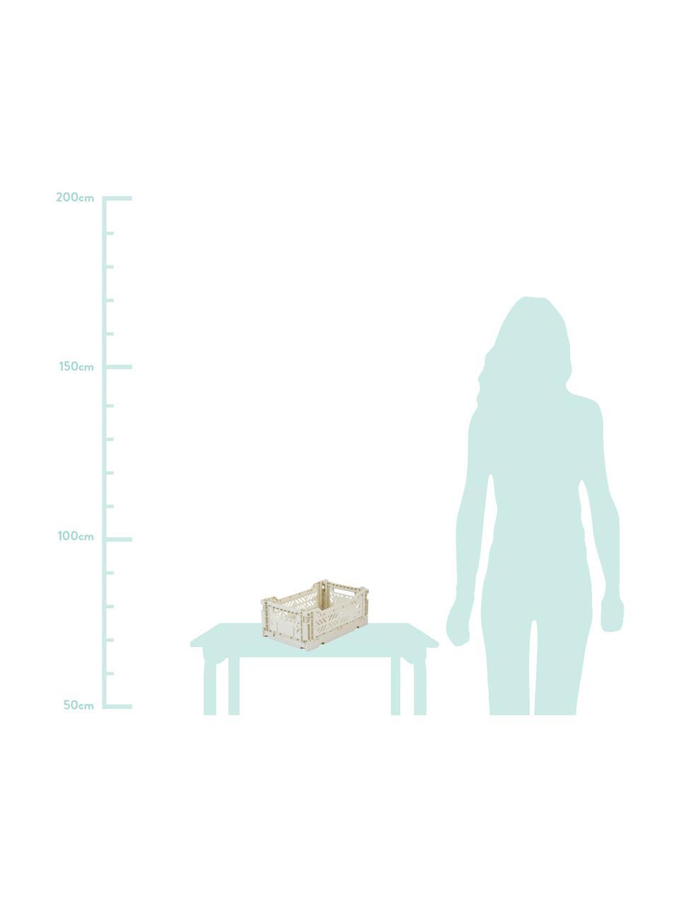 Skládací box Coconut Milk, stohovatelný, malý, Tlumená bílá