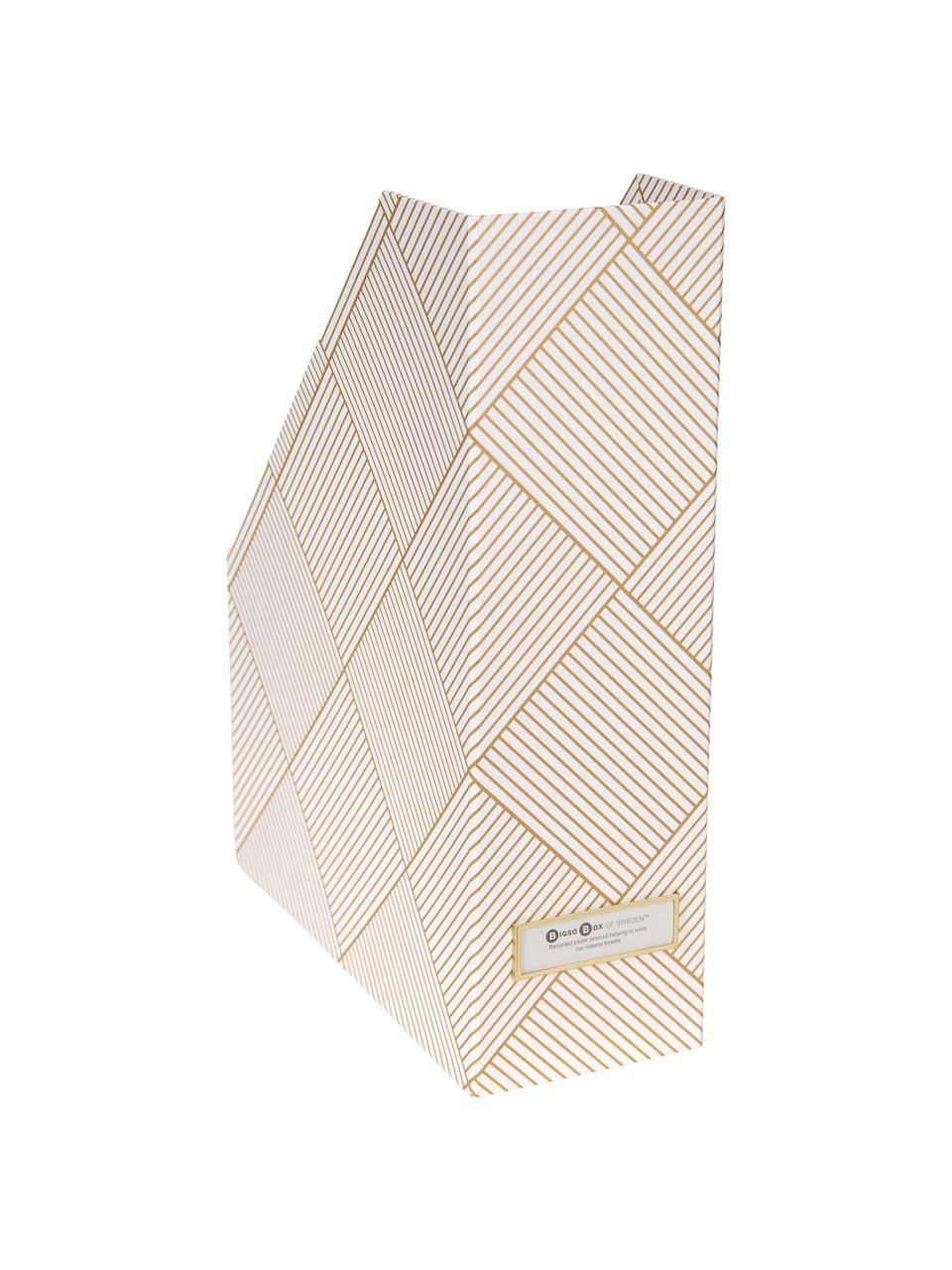 Portadocumenti Viktoria, Dorato, bianco, Larg. 10 x Alt. 32 cm